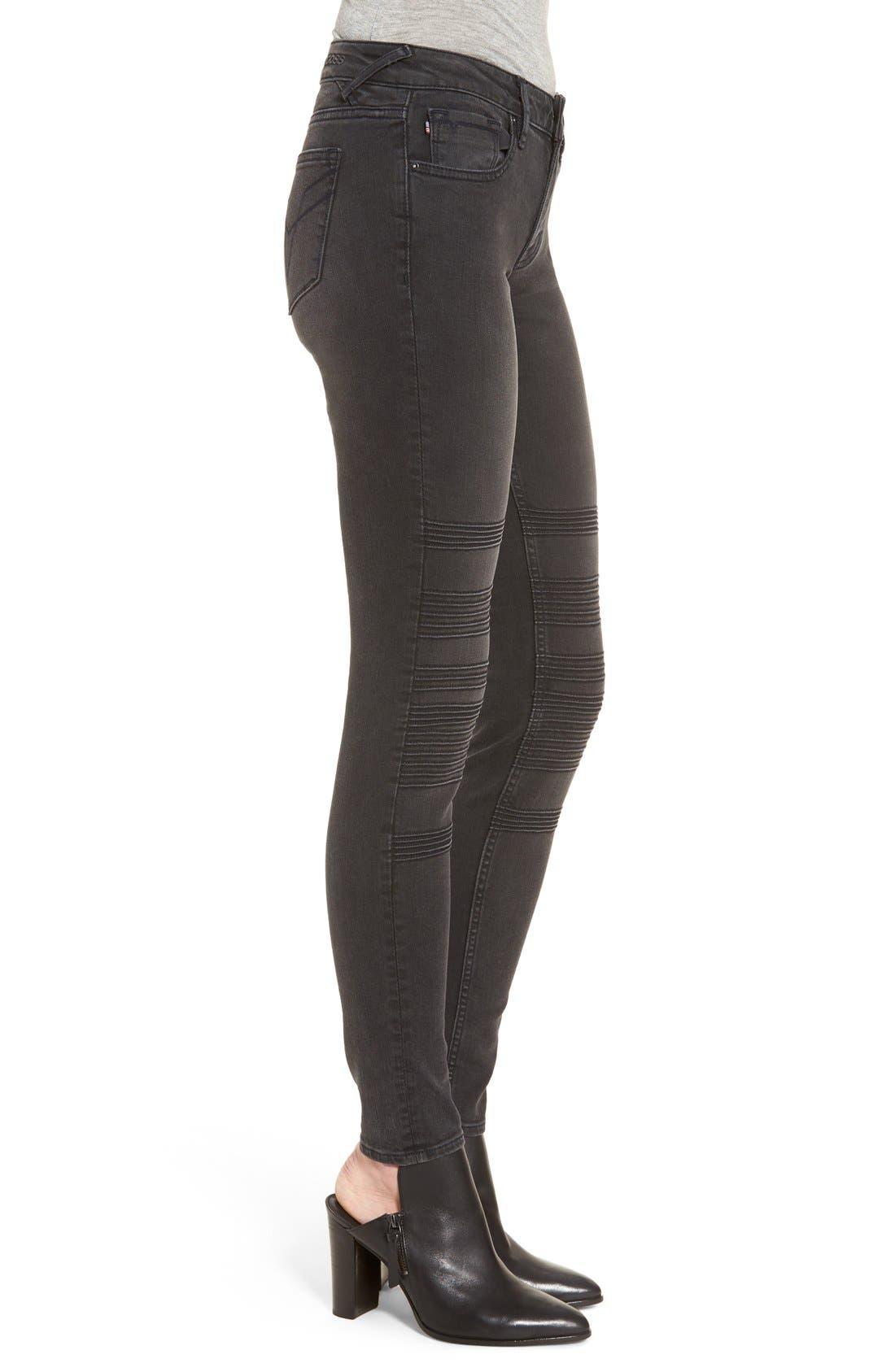 Alternate Image 4  - Vigoss 'Chelsea' Moto Skinny Jeans