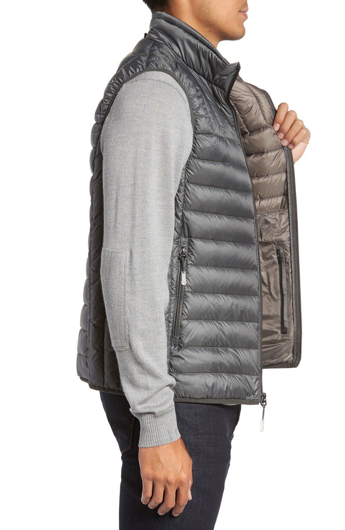 Packable Down Vest,                             Alternate thumbnail 3, color,                             Slate Grey