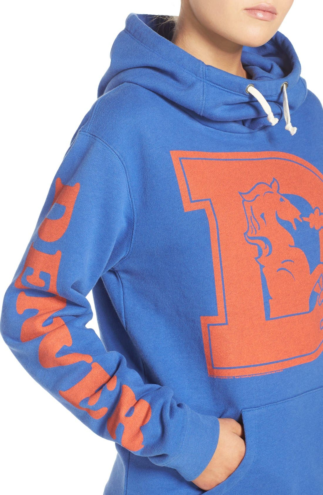 Alternate Image 4  - Junk Food 'Denver Broncos' Hooded Sweatshirt