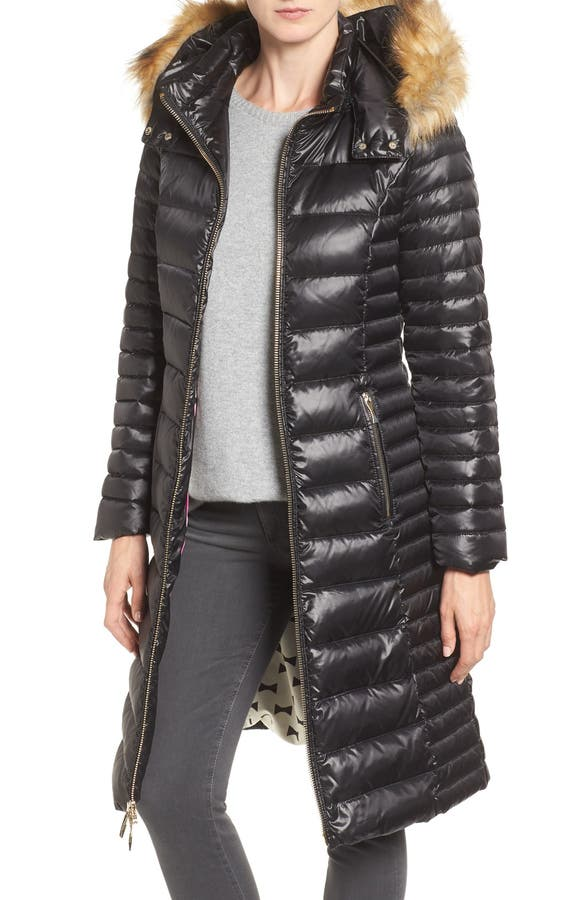 kate spade new york quilted down jacket with faux fur trim | Nordstrom : quilted down coats - Adamdwight.com