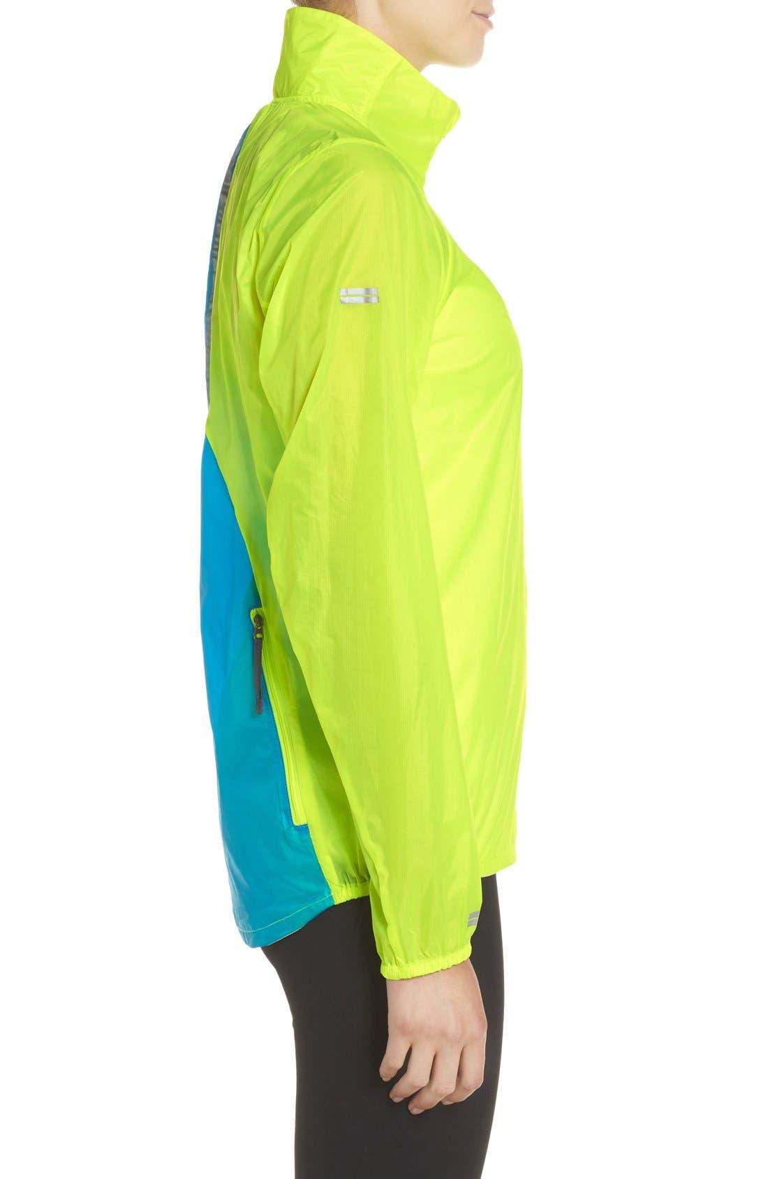 Water Resistant Ripstop Jacket,                             Alternate thumbnail 3, color,                             Nightlife/ Ultra Blue