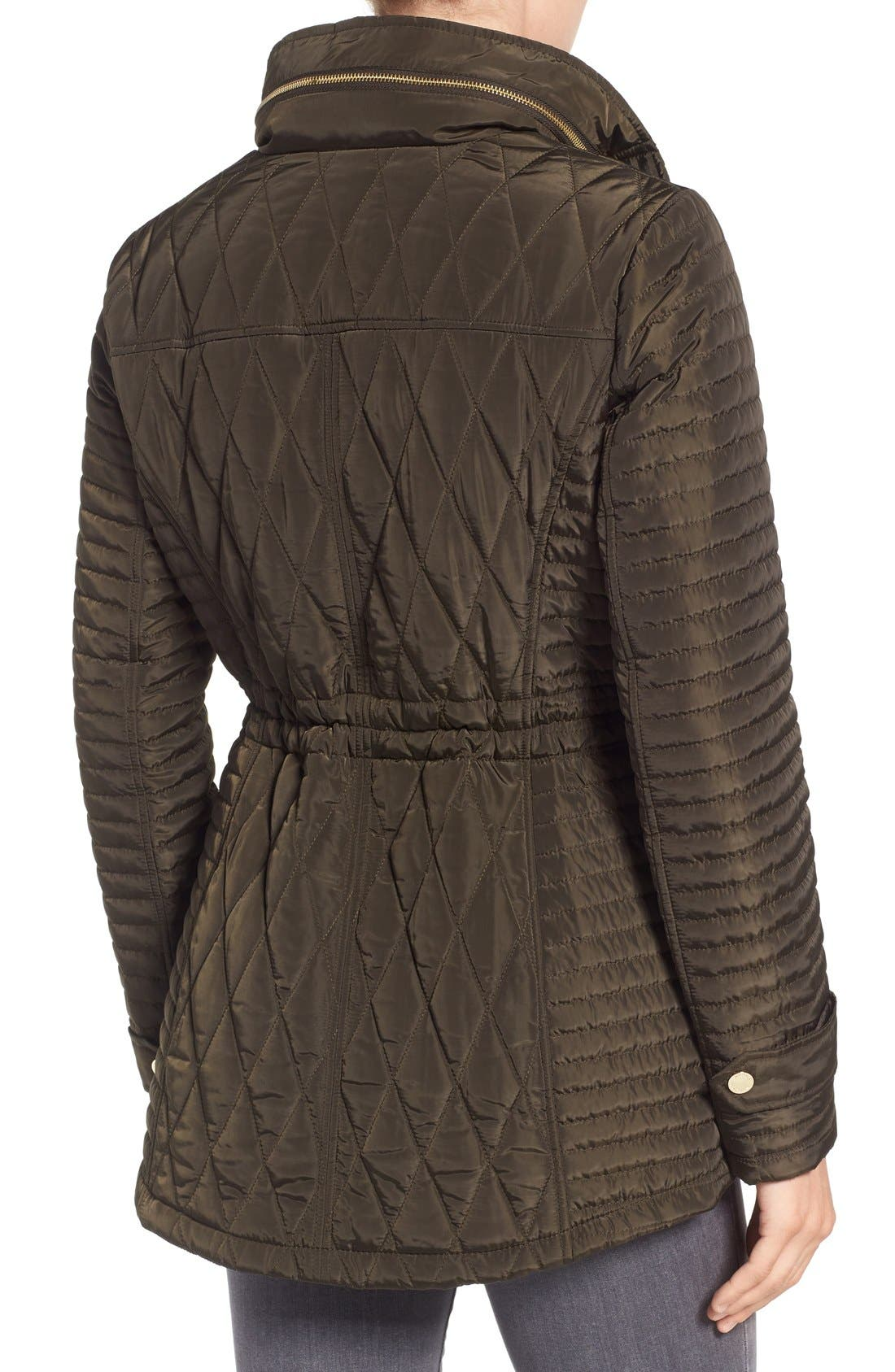 Alternate Image 3  - MICHAEL Michael Kors Quilted Anorak (Regular & Petite)