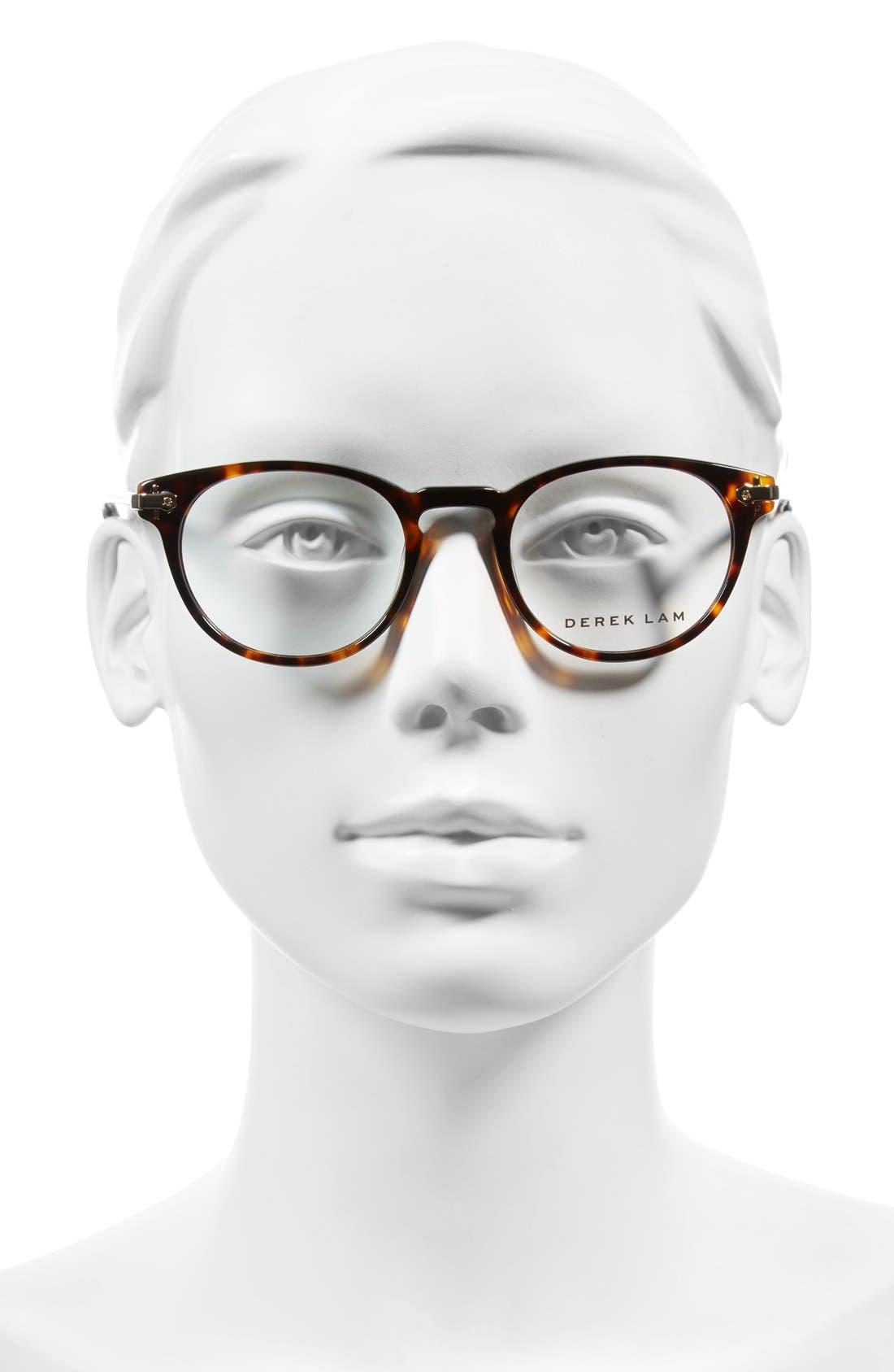 48mm Optical Glasses,                             Alternate thumbnail 2, color,                             Havana Tortoise