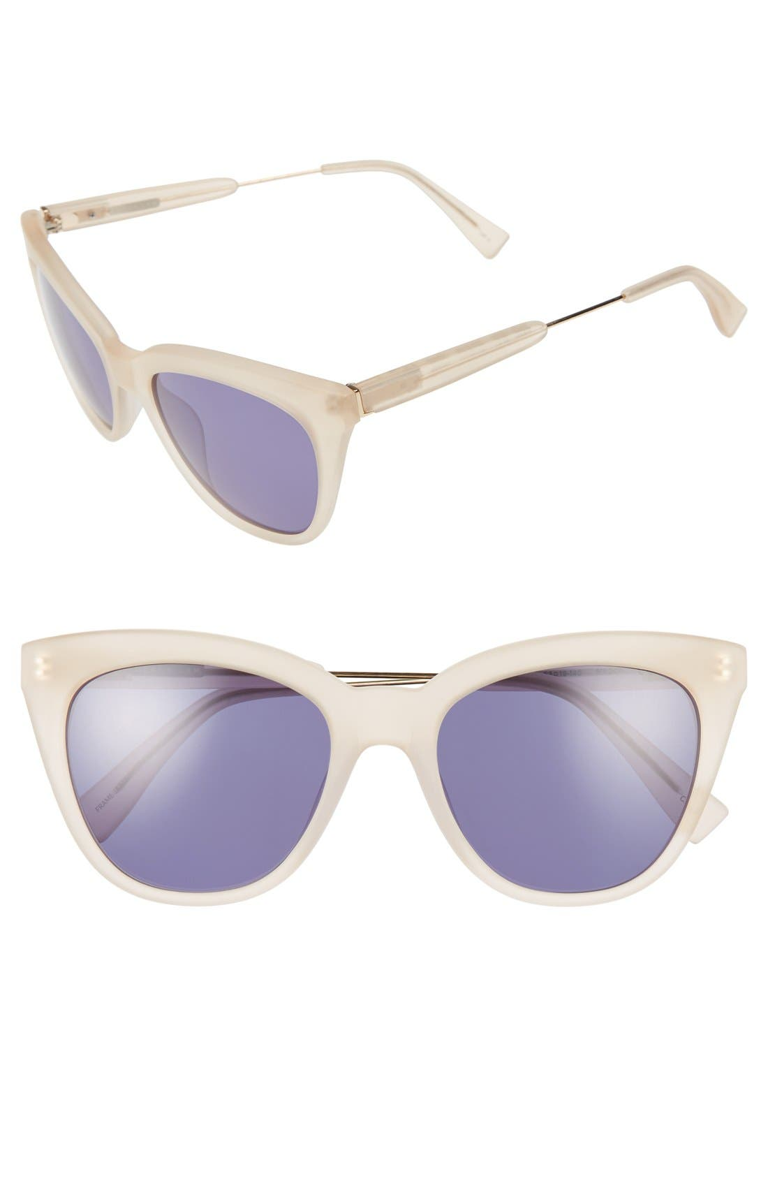 Derek Lam 'Lenox' 53mm Cat Eye Sunglasses