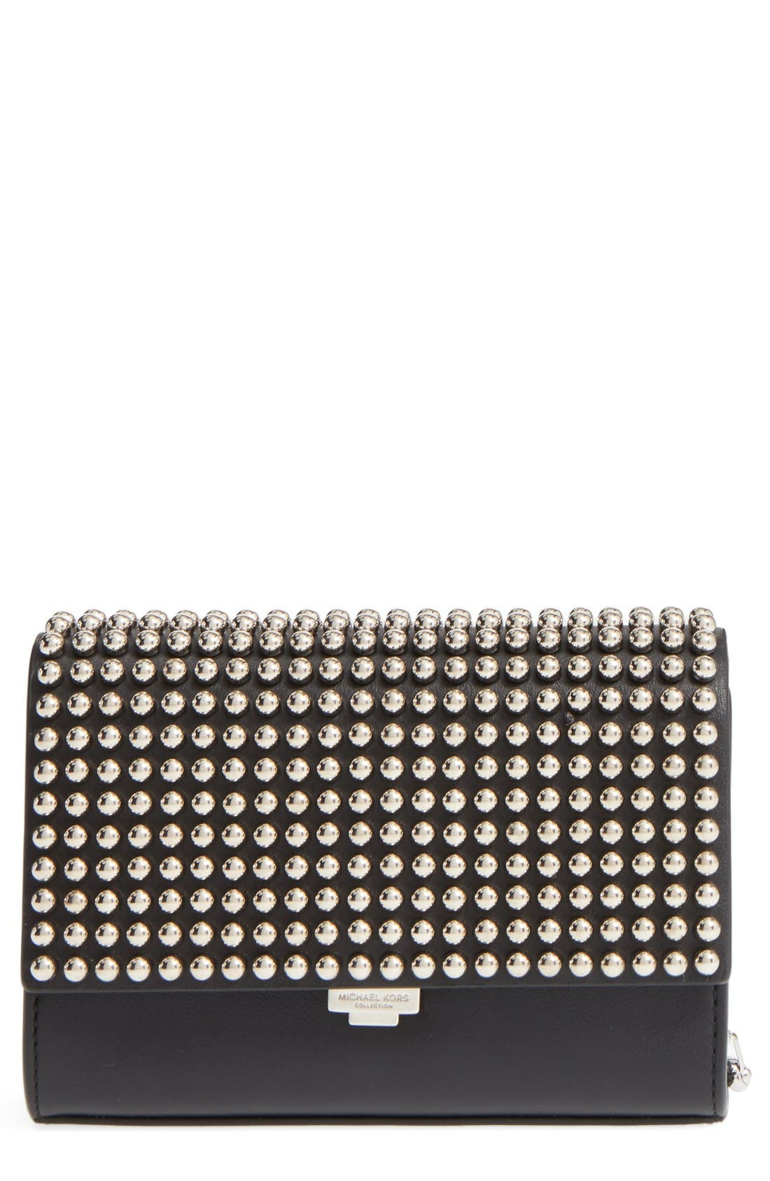 Alternate Image 1 Selected - Michael Kors 'Small Yasmeen' Studded Clutch