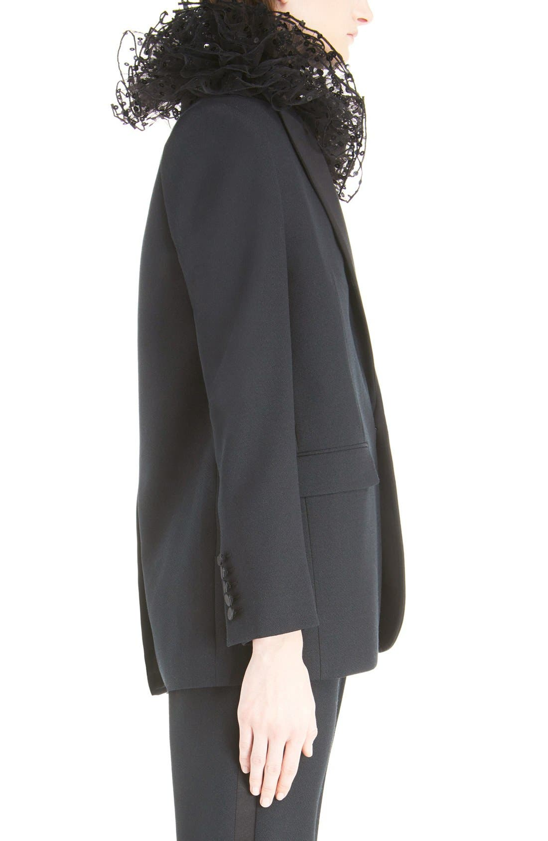 Alternate Image 4  - Saint Laurent One-Button Tuxedo Jacket