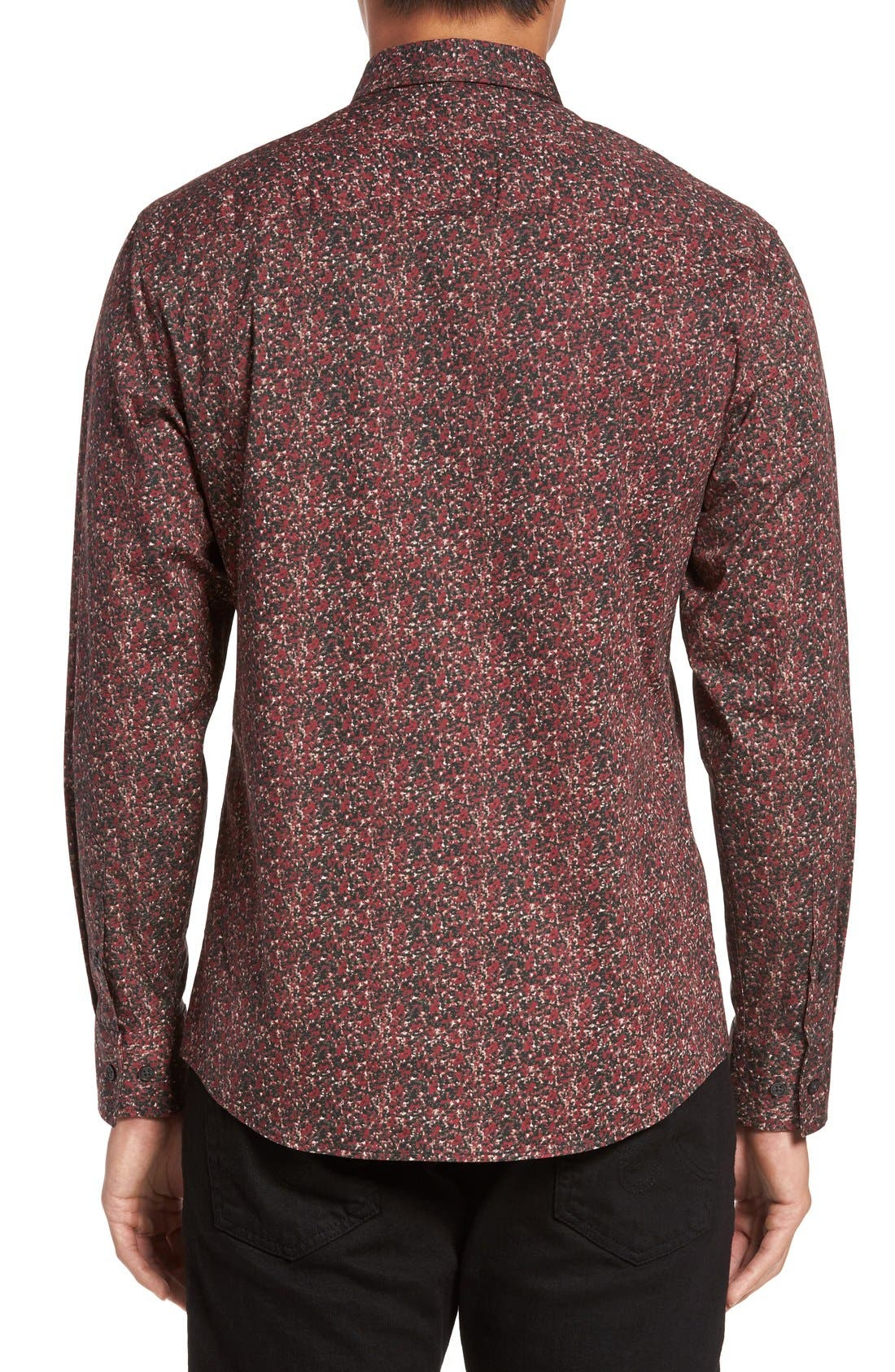 Alternate Image 2  - Vince Camuto Slim Fit Print Sport Shirt