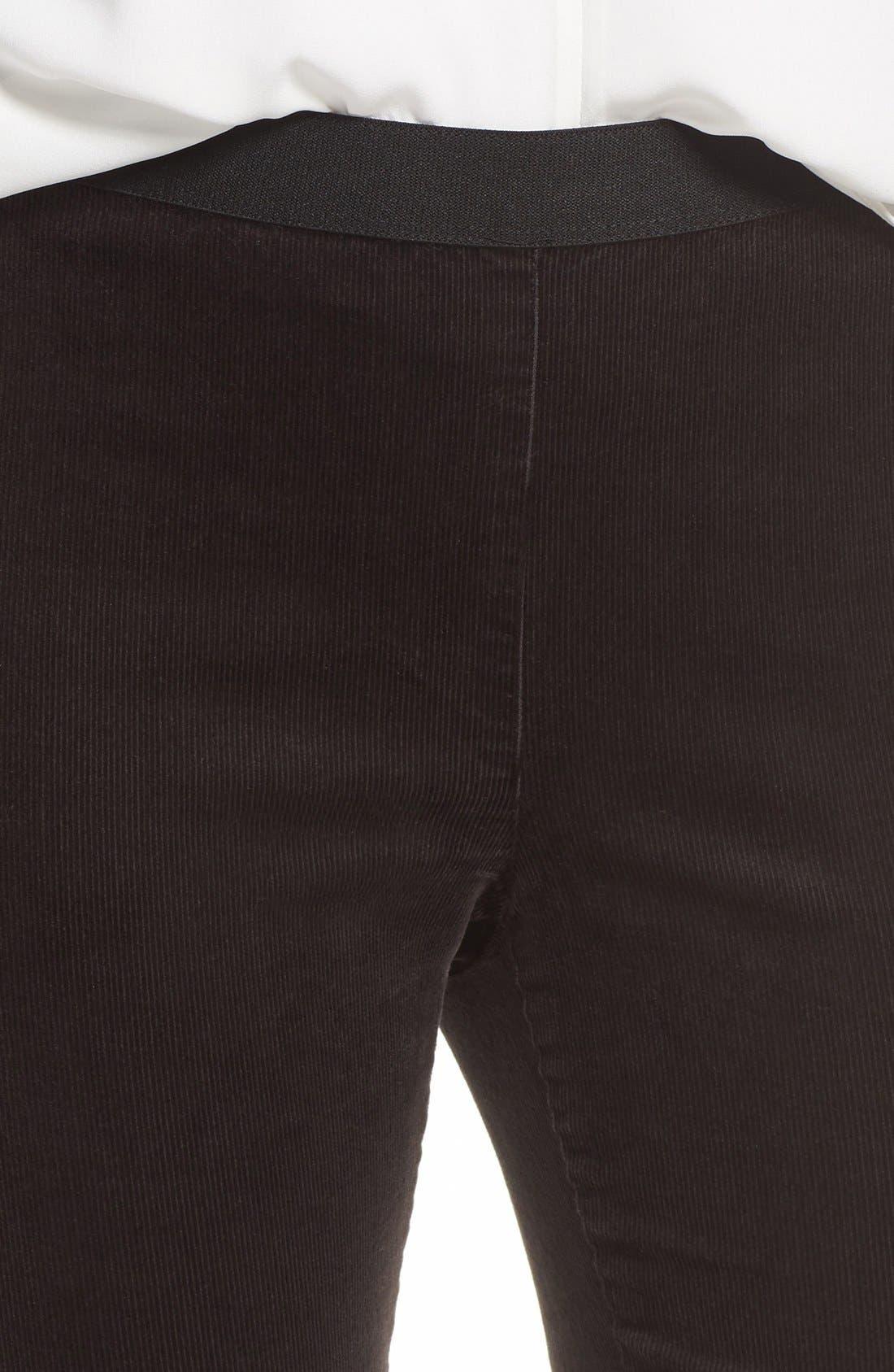 Stretch Corduroy Leggings,                             Alternate thumbnail 4, color,                             Deep Rye