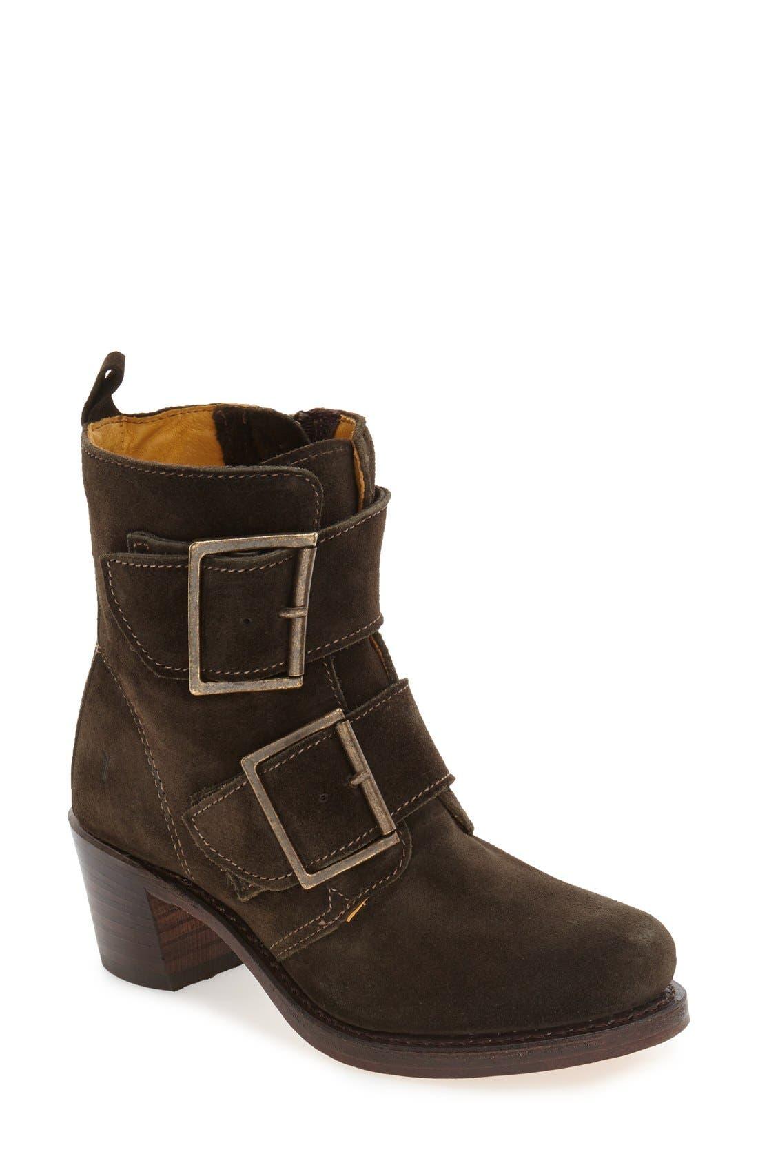 Main Image - Frye 'Sabrina' Double Buckle Boot (Women)