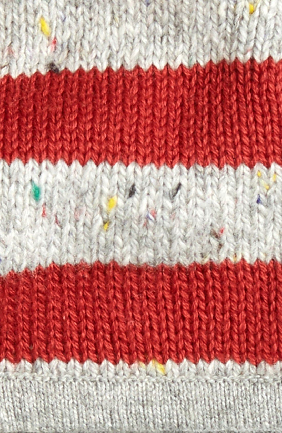 Stripe Earflap Hat,                             Alternate thumbnail 2, color,                             Grey Alloy- Red Stripe