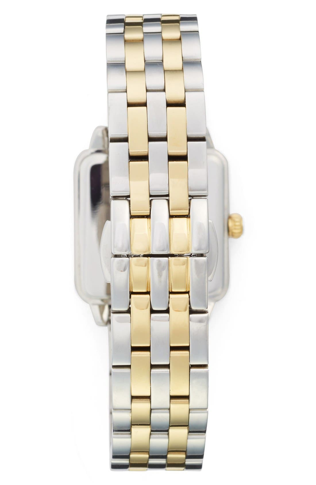 washington square bracelet watch, 25mm,                             Alternate thumbnail 2, color,                             Silver/ Gold/ Mother Of Pearl