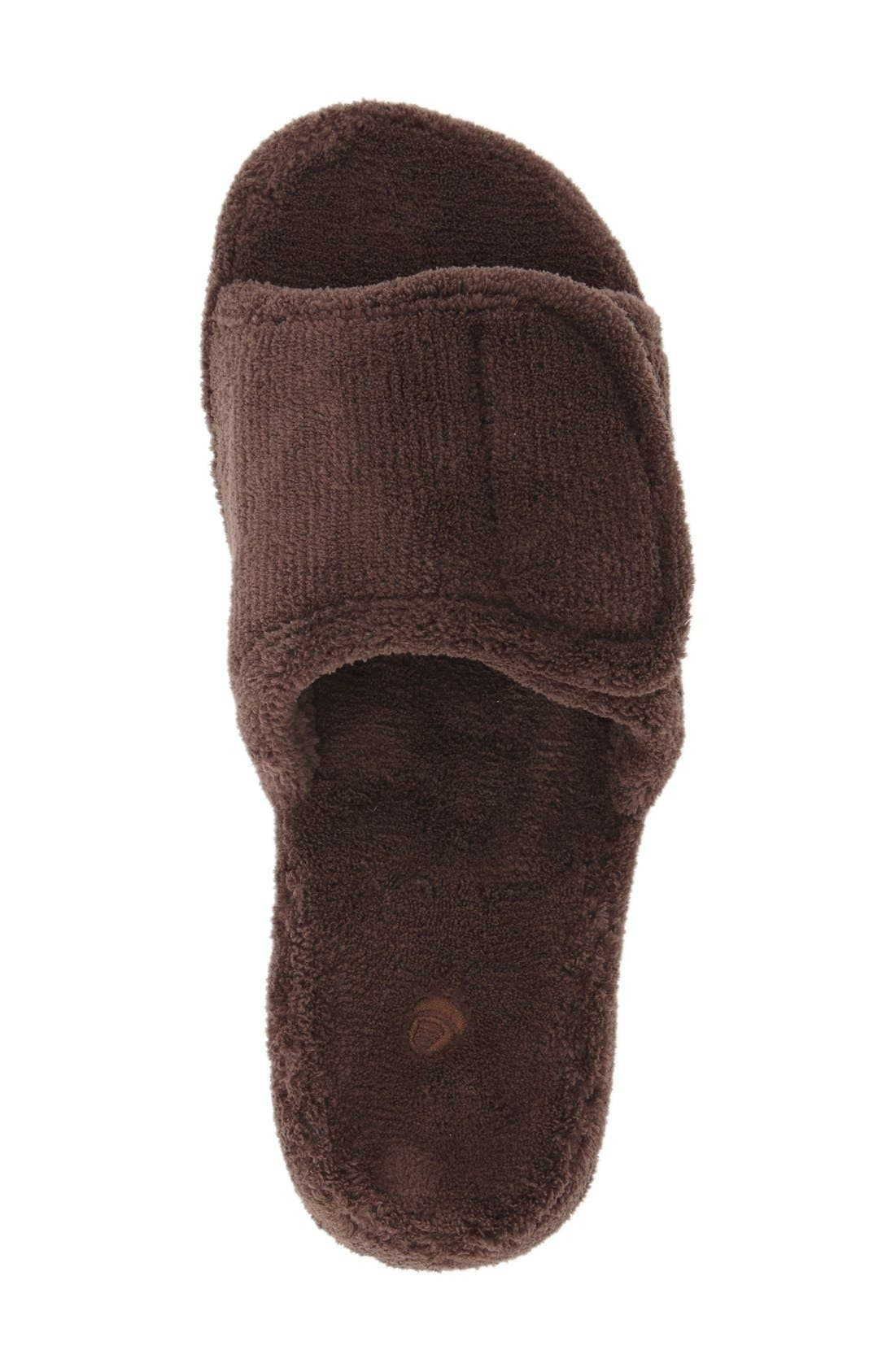 'Spa' Slipper,                             Alternate thumbnail 3, color,                             Chocolate