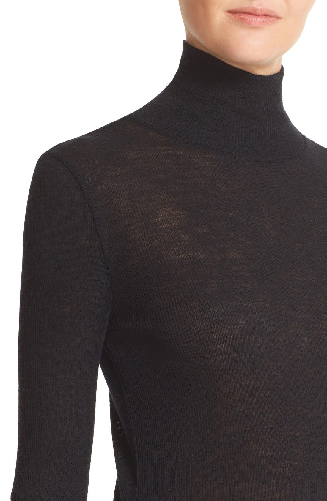 Alternate Image 4  - T by Alexander Wang Sheer Wool Turtleneck