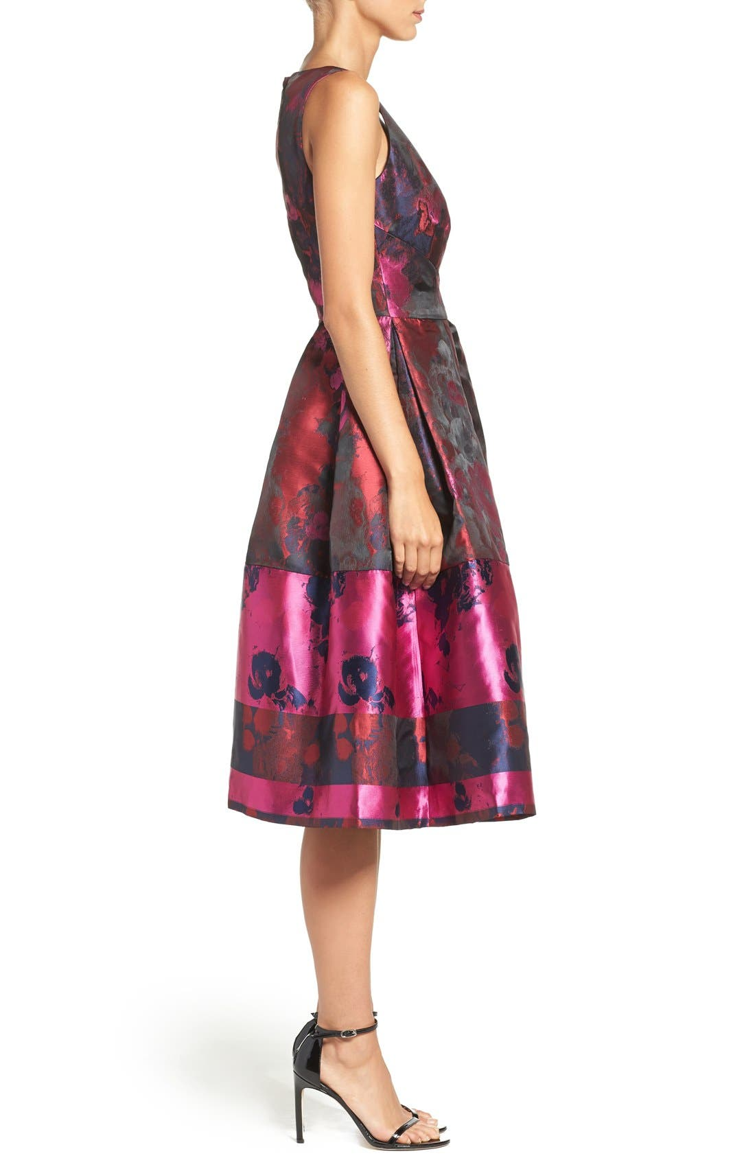Alternate Image 3  - Ivanka Trump Floral Organza Fit & Flare Midi Dress