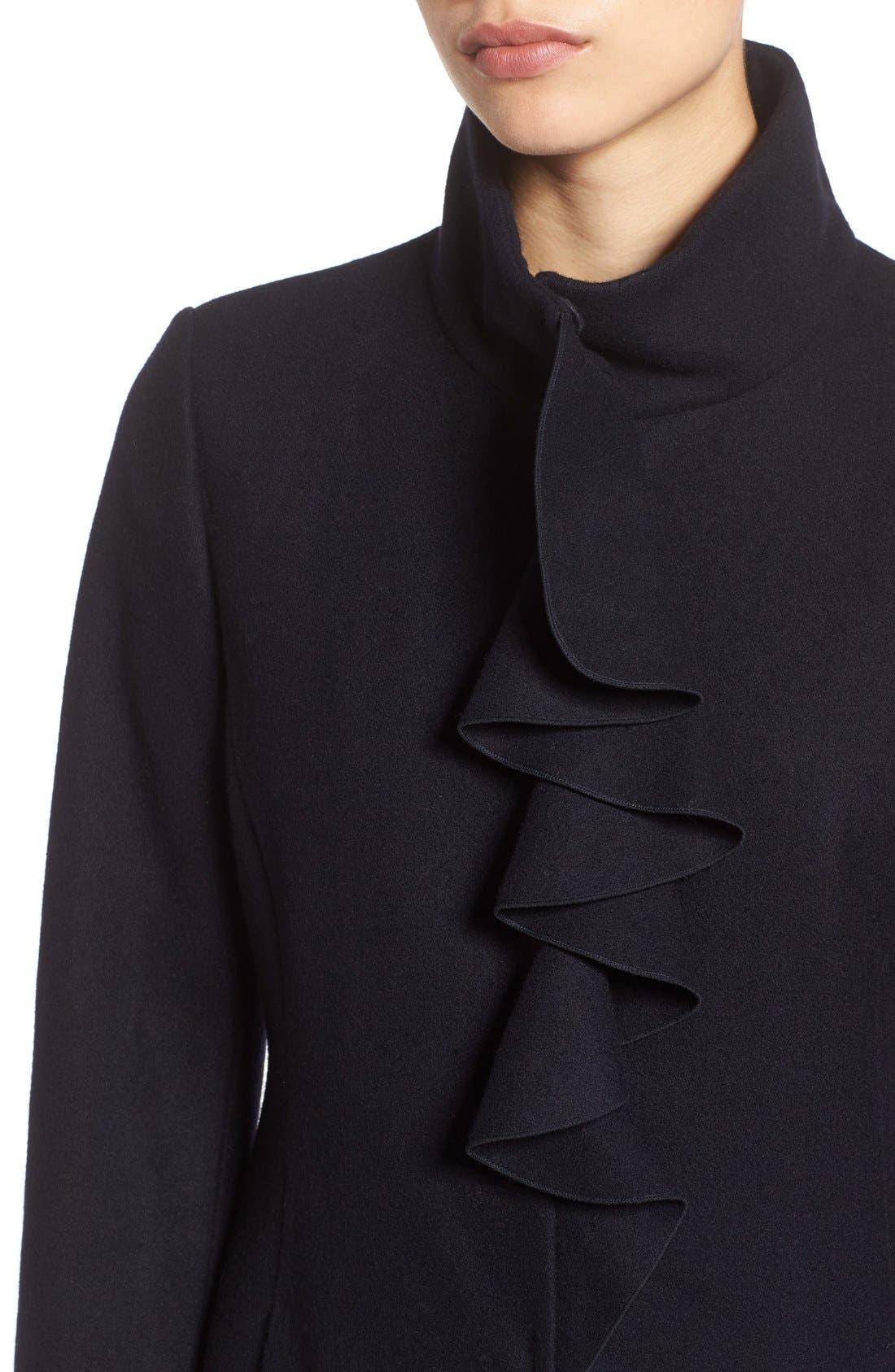 Alternate Image 4  - Tahari Kate Ruffle Wool Blend Coat