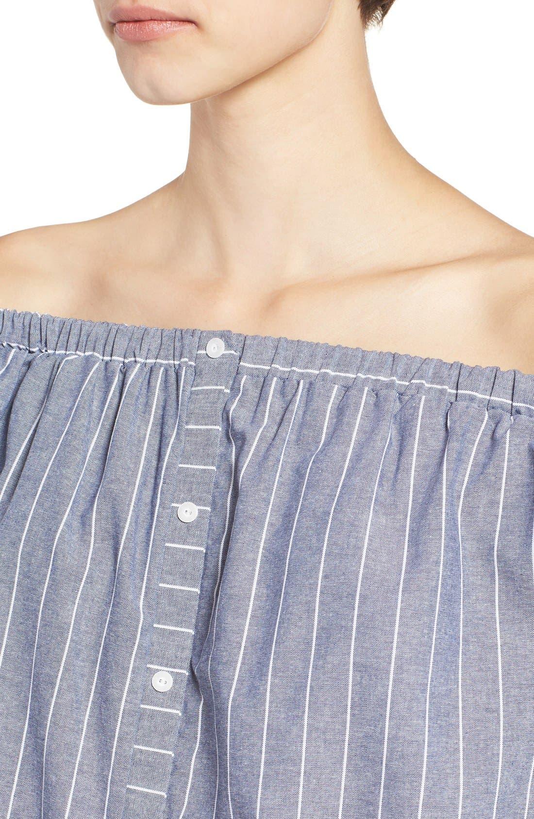 Alternate Image 4  - BP. Stripe Off the Shoulder Blouse