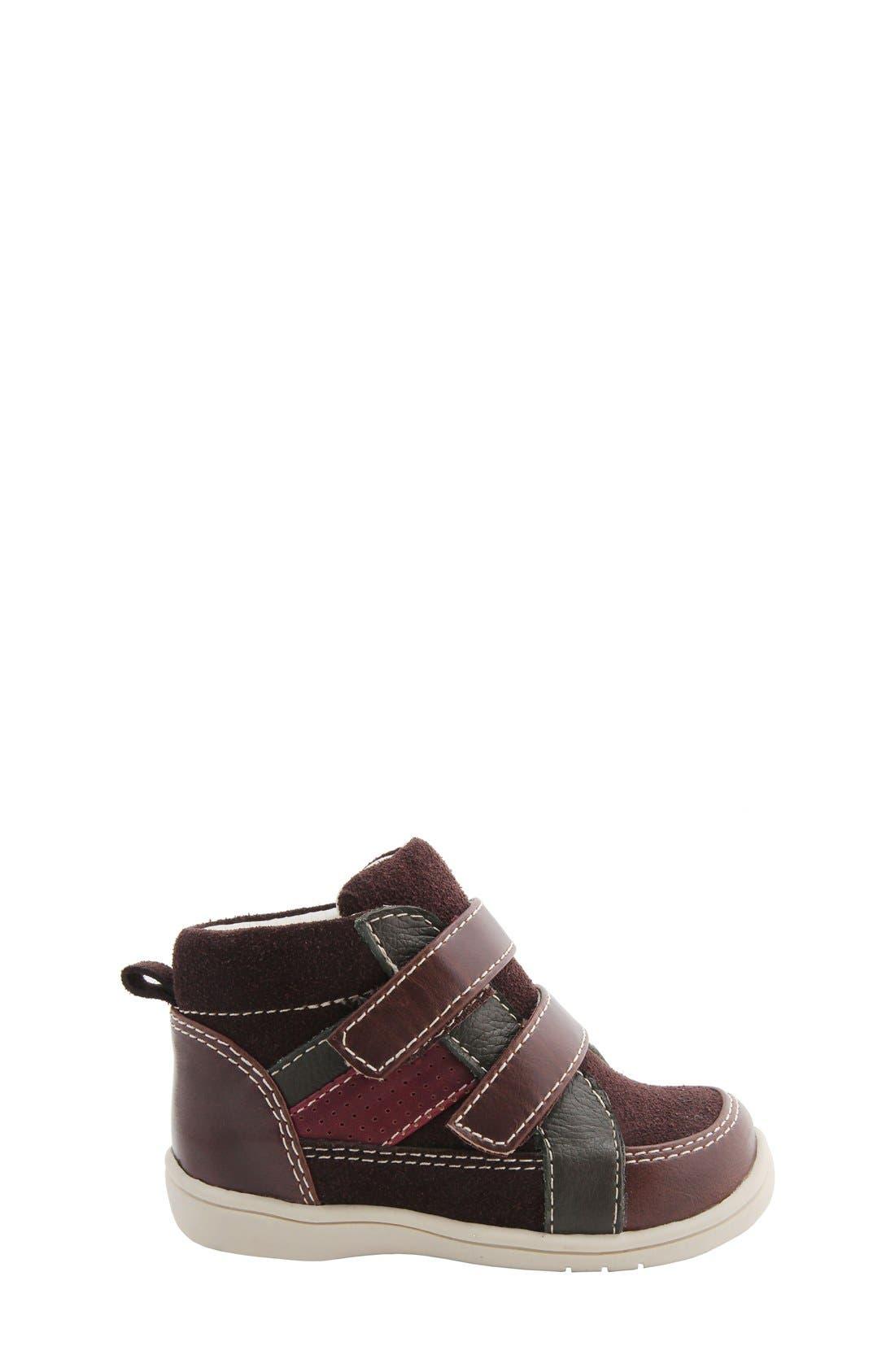 Nina 'Cairo' High Top Sneaker,                             Alternate thumbnail 6, color,                             Brown Suede