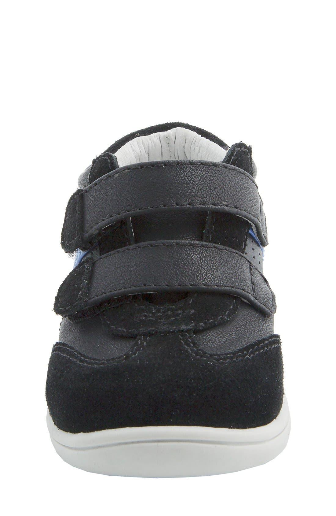 Nina 'Everest' Sneaker,                             Alternate thumbnail 3, color,                             Black Burnished