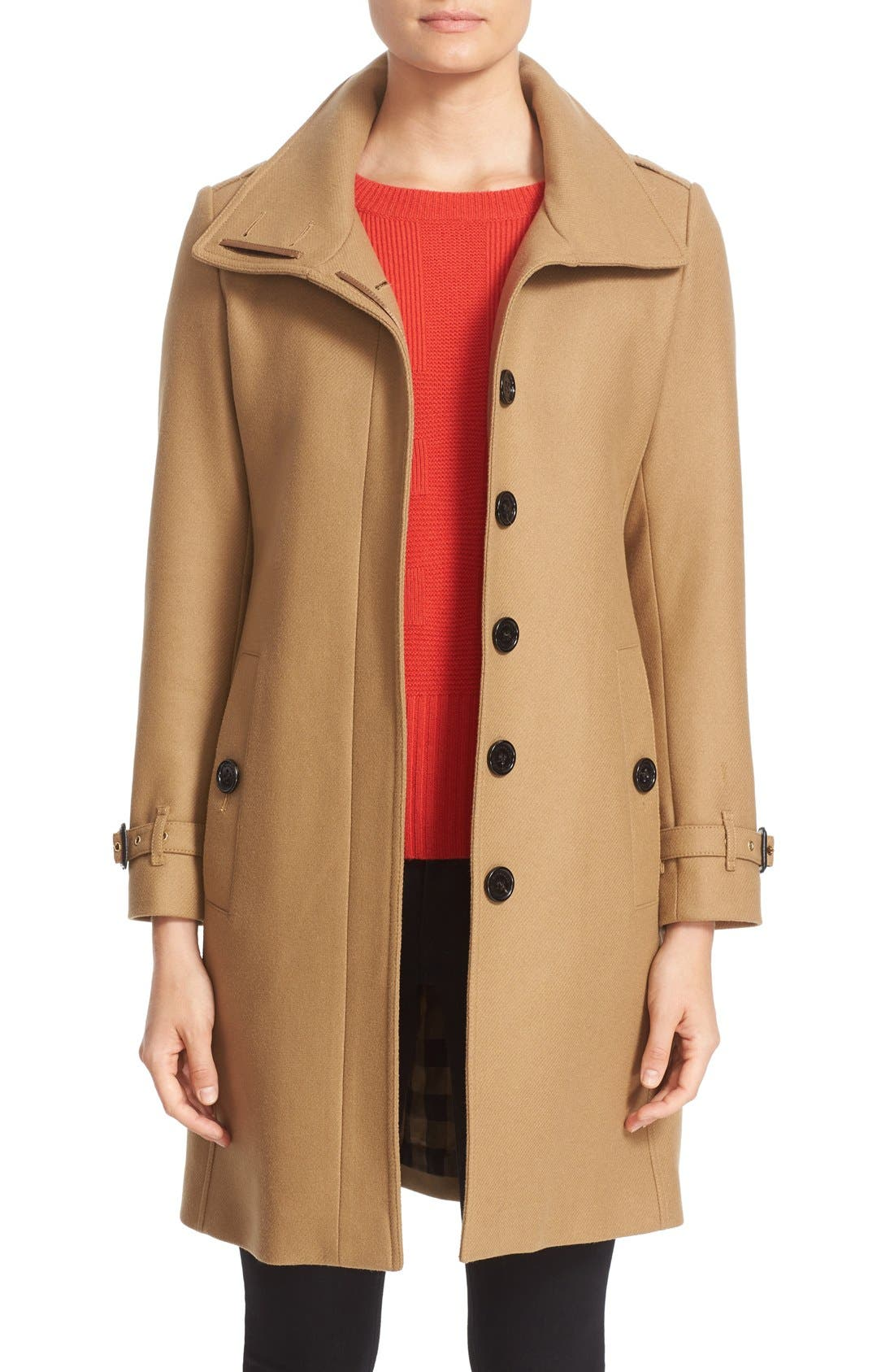 Alternate Image 1 Selected - Burberry Gibbsmoore Funnel Collar Trench Coat (Nordstrom Exclusive)