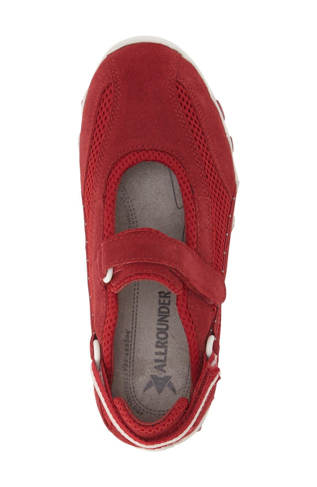 'Niro' Athletic Shoe,                             Alternate thumbnail 3, color,                             Red Suede