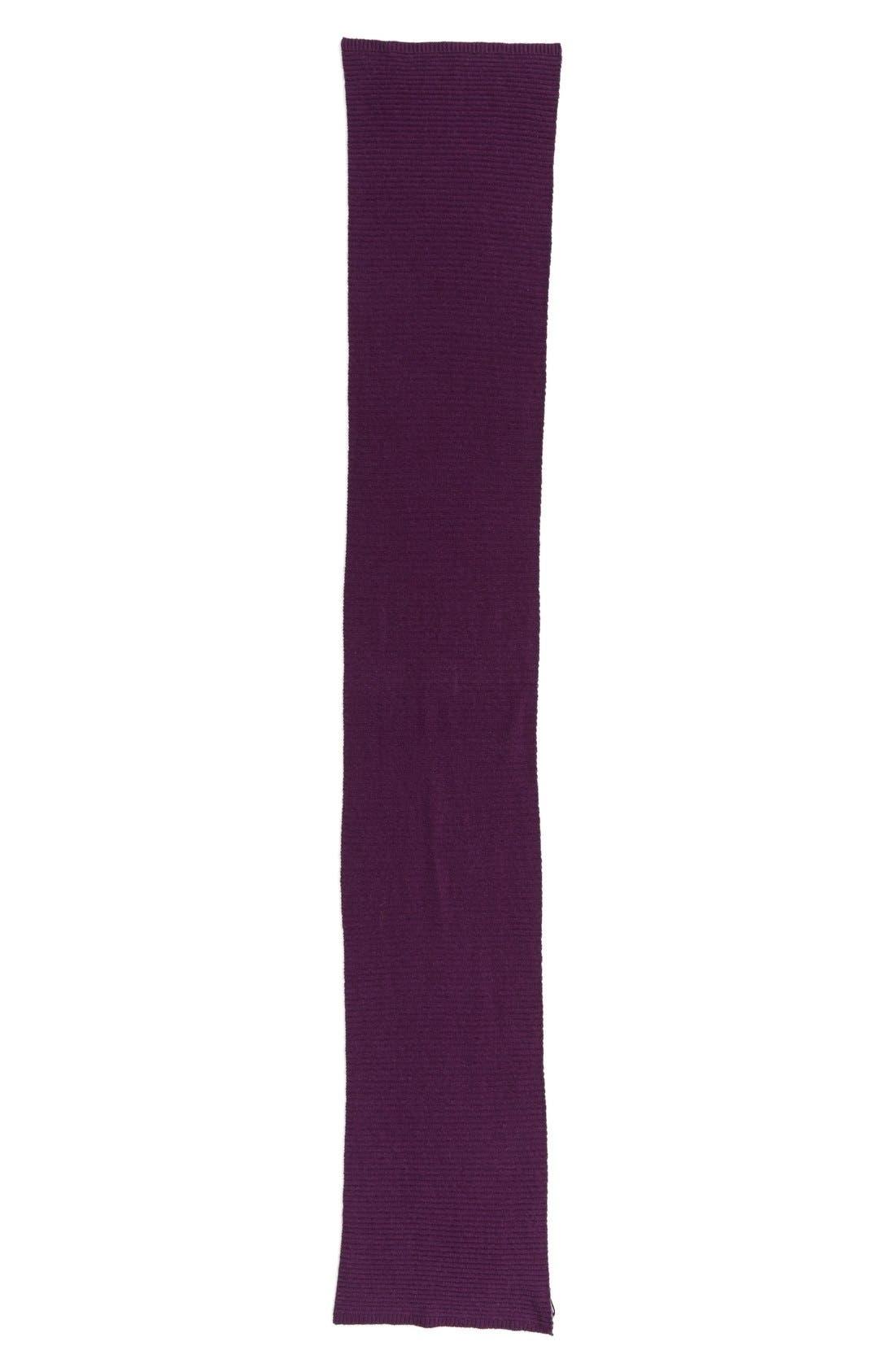 Alternate Image 2  - Halogen® Ribbed Cashmere Muffler