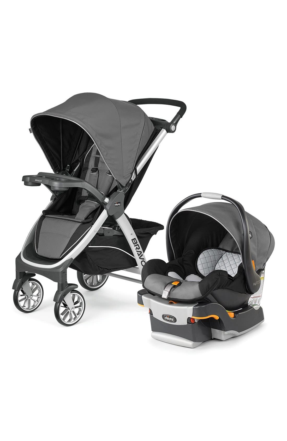 Bravo Trio Single Stroller & Car Seat Travel System,                             Main thumbnail 1, color,                             Orion