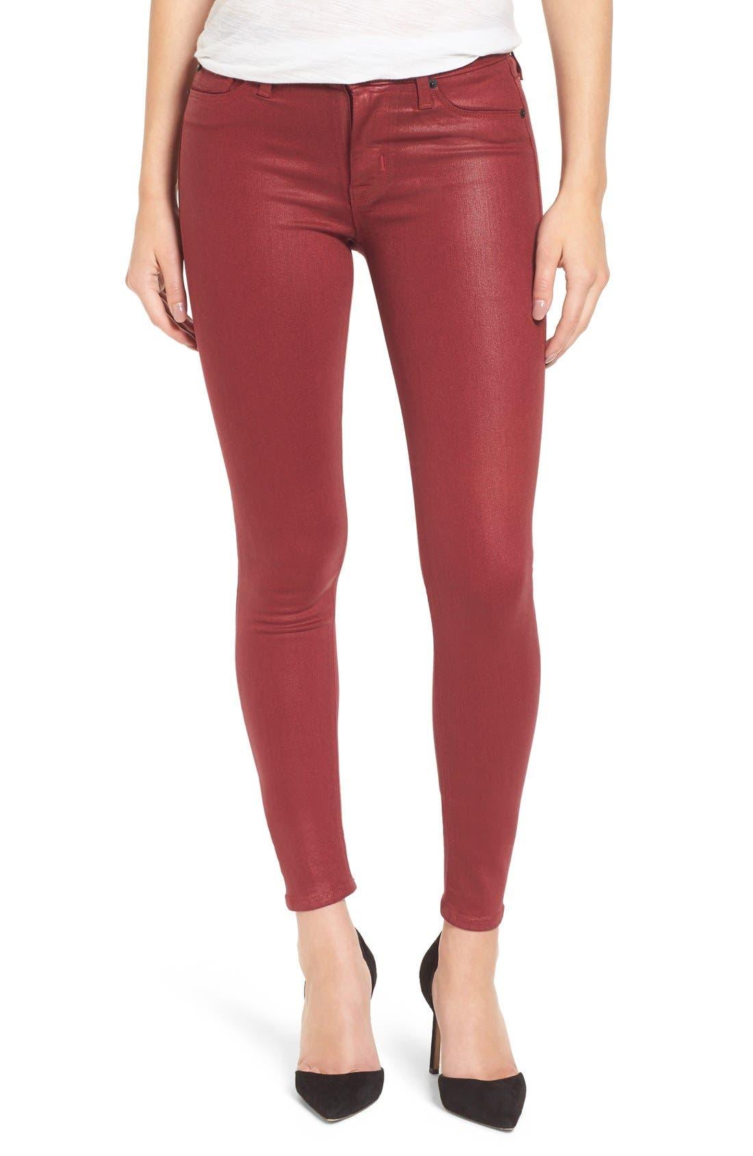 Main Image - HudsonJeans Coated Super Skinny Jeans