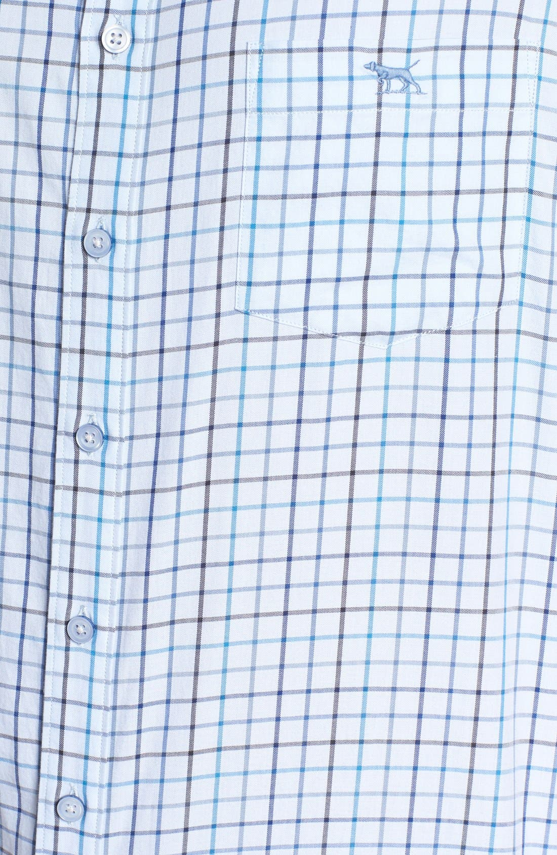 'Lyford' Sports Fit Check Sport Shirt,                             Alternate thumbnail 5, color,                             Sky