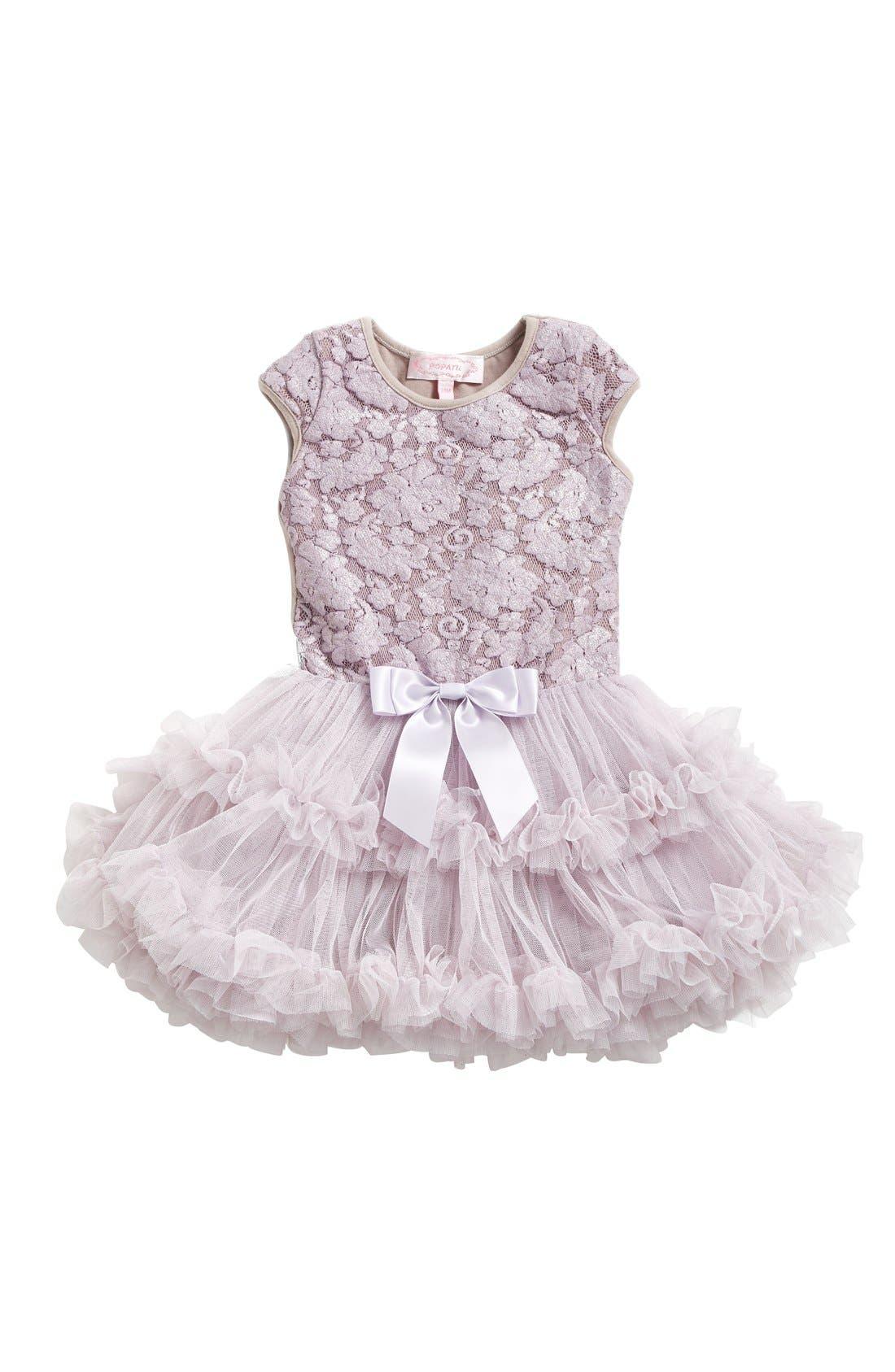 Alternate Image 1 Selected - Popatu Lace Pettidress (Baby Girls)