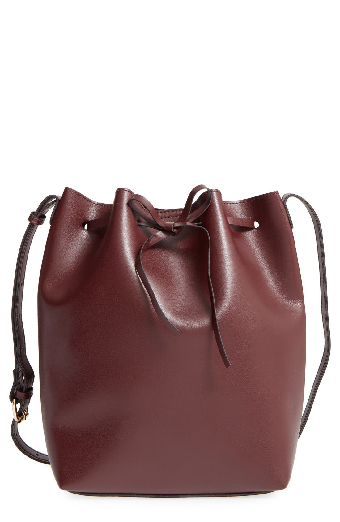 Alternate Image 1 Selected - Sole Society 'Blackwood' Faux Leather Bucket Bag