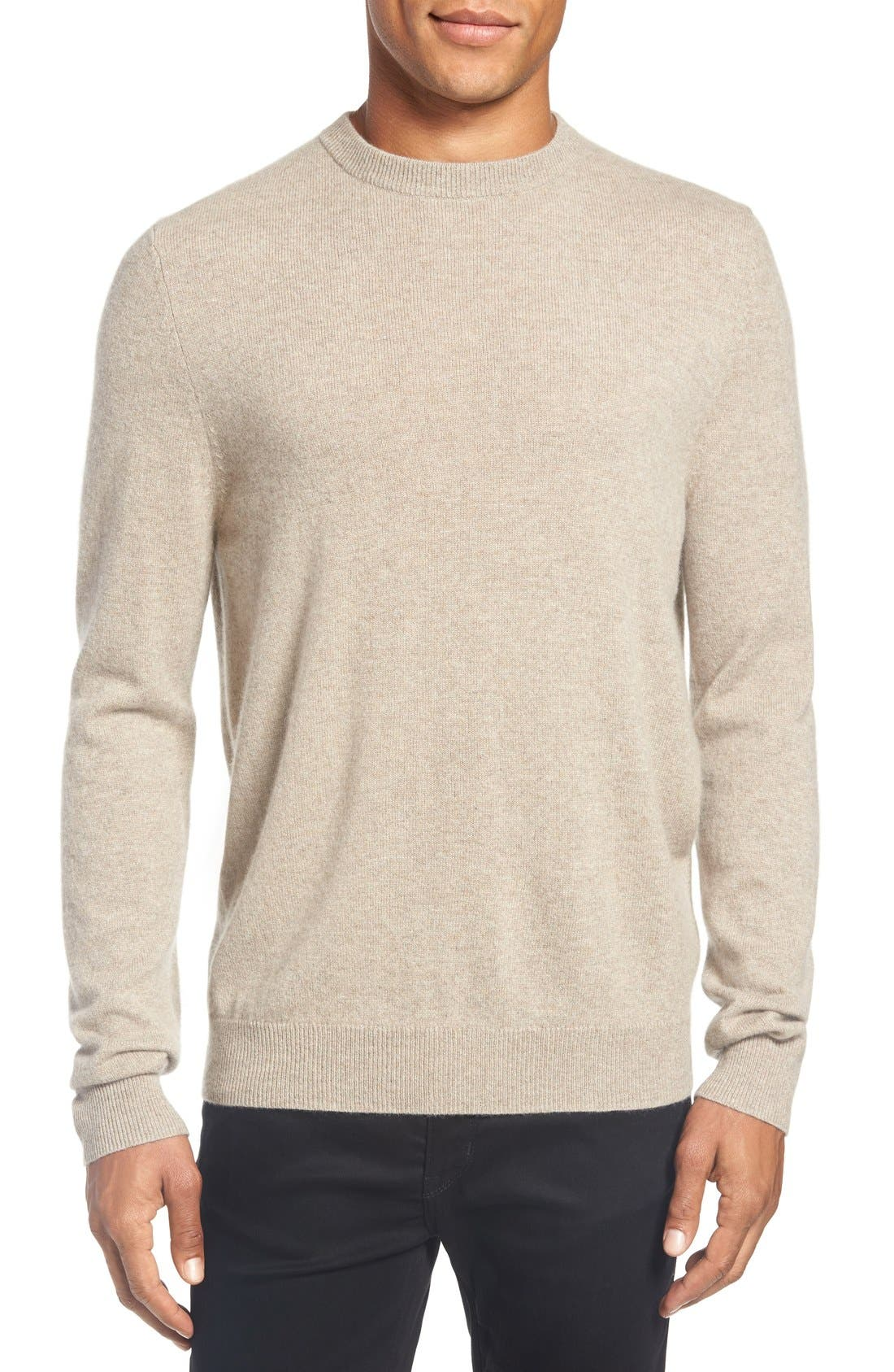 Nordstrom Men's Shop Cashmere Crewneck Sweater (Regular & Tall)
