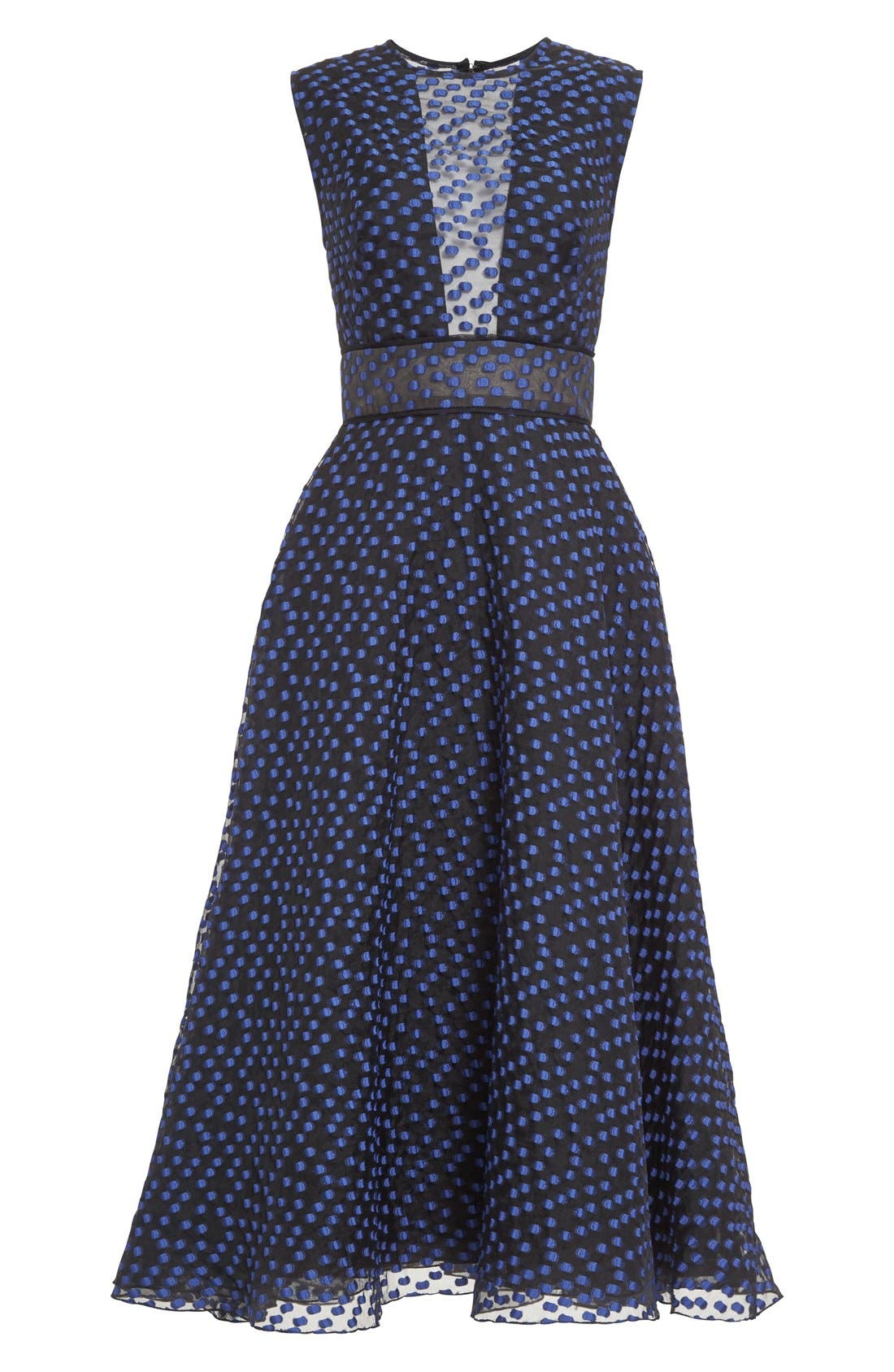 Alternate Image 4  - Lela Rose Dotted Organza Fit & Flare Midi Dress