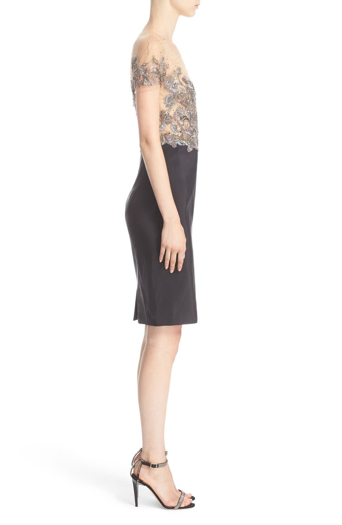 Alternate Image 4  - Marchesa Embellished Tulle Bodice Sheath Dress (Nordstrom Exclusive)