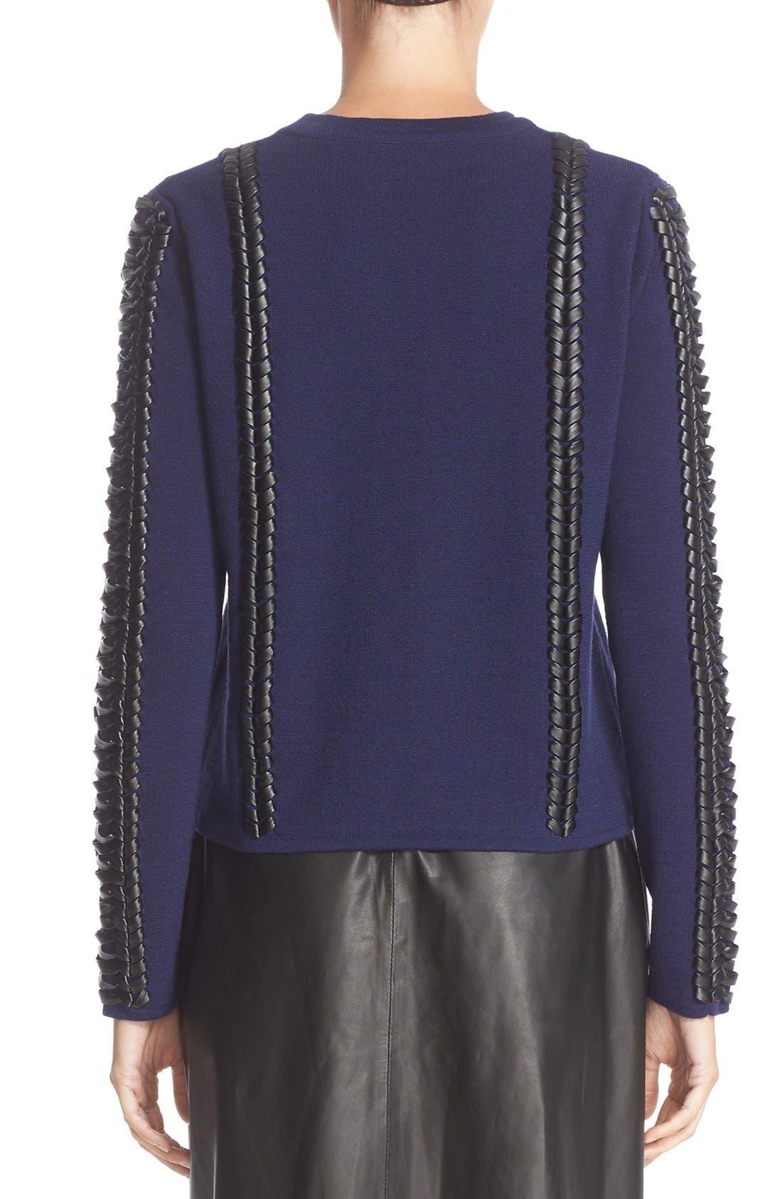 Alternate Image 2  - Altuzarra Deals Lace Detail Wool Sweater