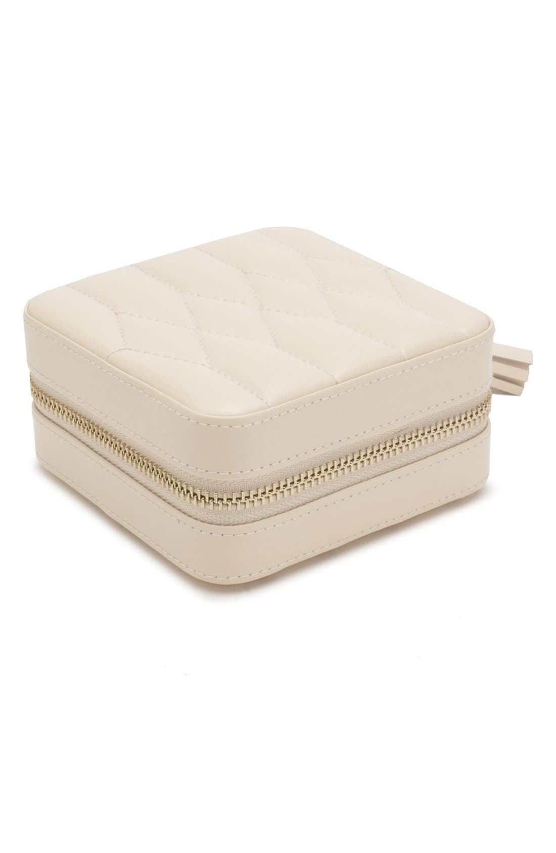 'Caroline' Travel Jewelry Case,                         Main,                         color, Ivory
