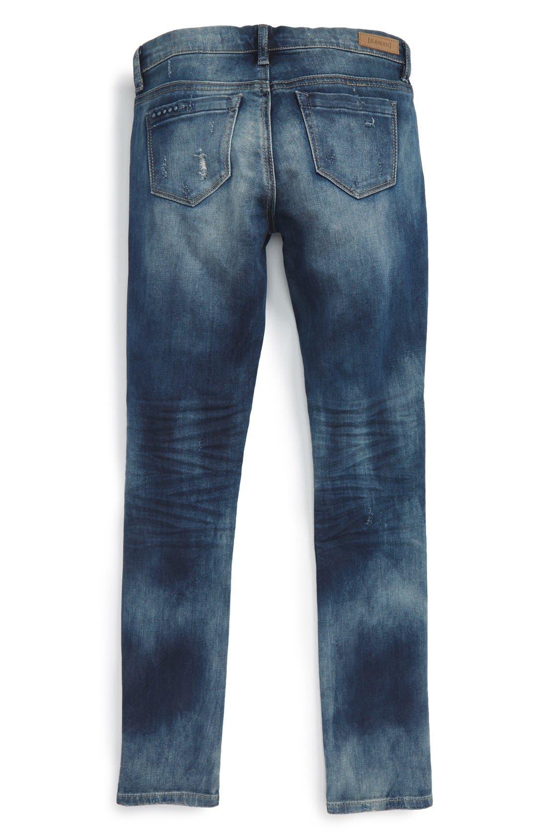 Alternate Image 2  - BLANKNYC Destroyed Boyfriend Jeans (Big Girls)