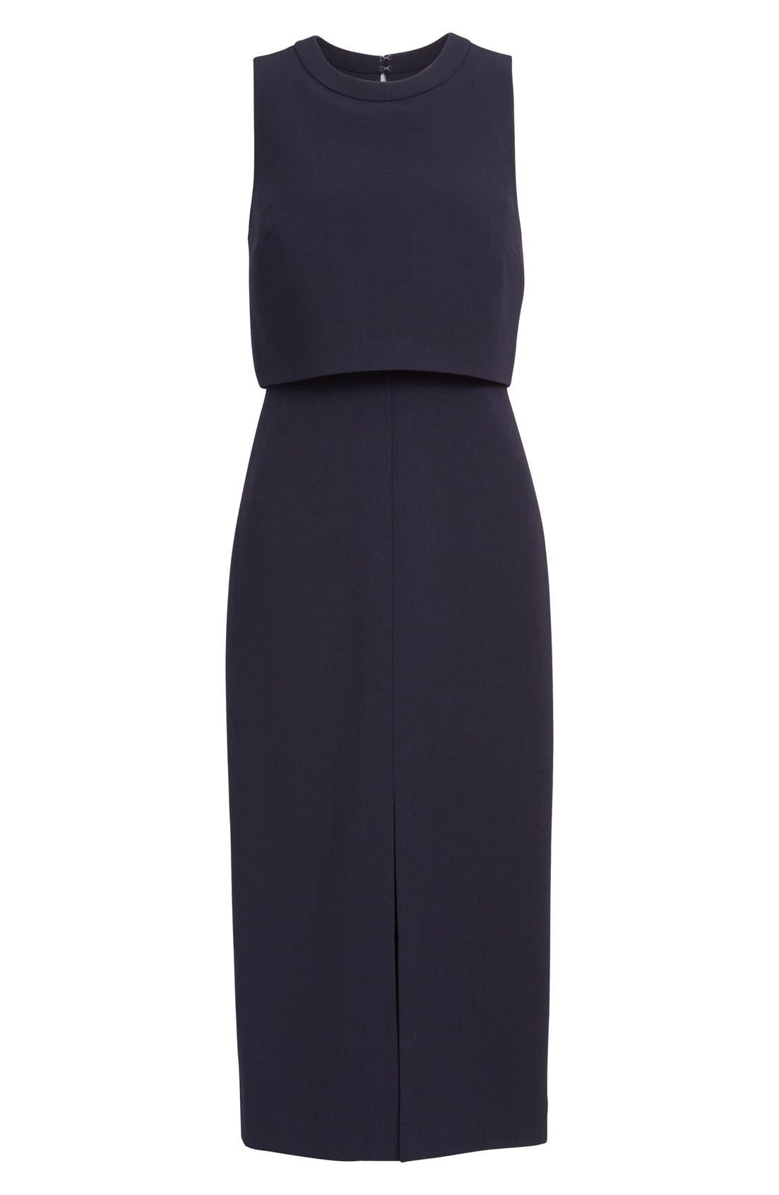Alternate Image 4  - Nordstrom Signature and Caroline Issa Swing Back Crepe Dress