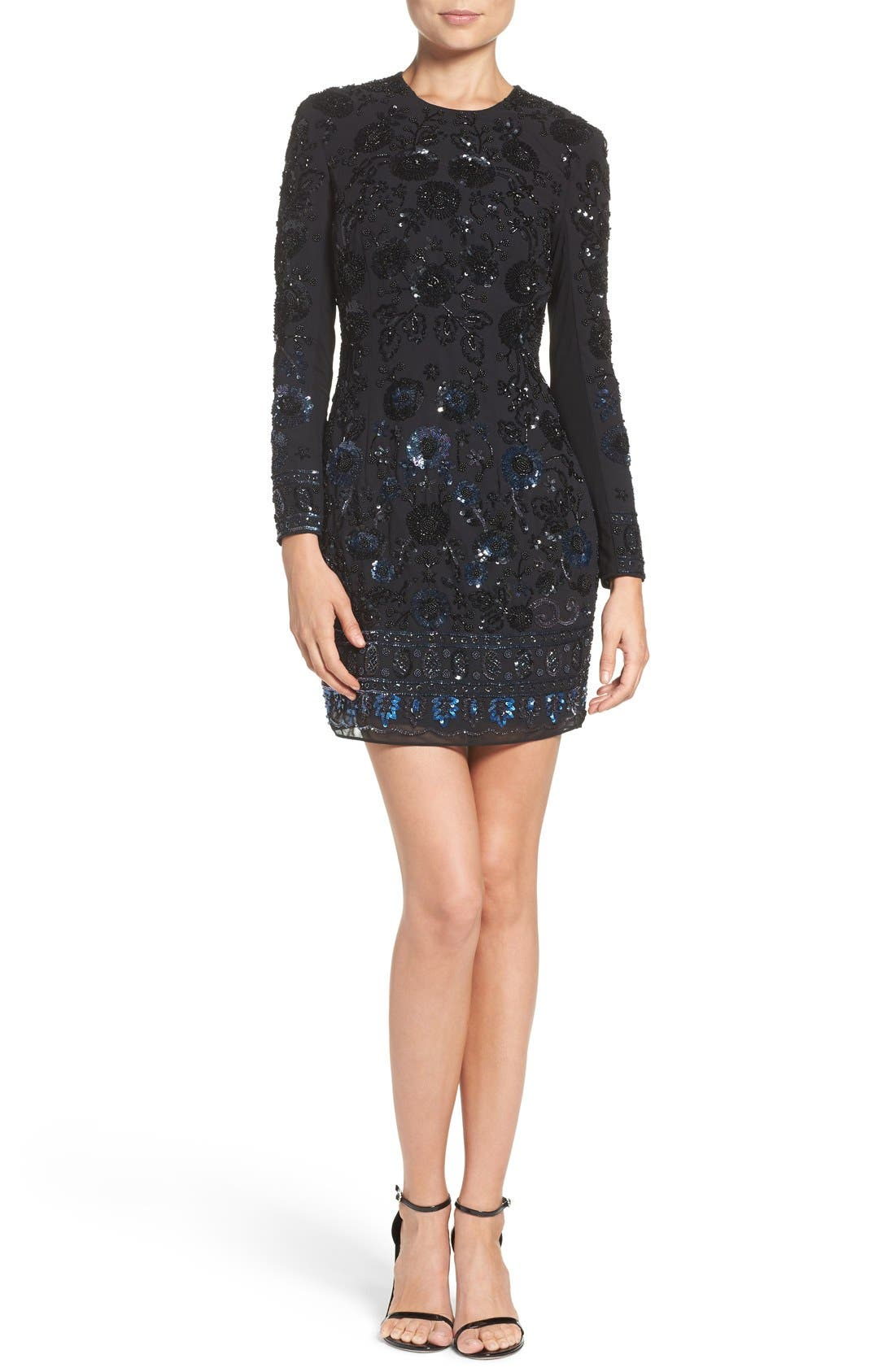 Alternate Image 4  - Needle & Thread Embellished Mesh Sheath Dress