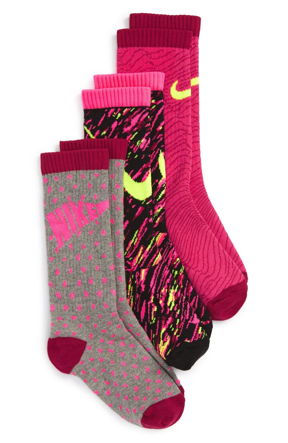 Nike 3-Pack Graphic Crew Socks (Walker, Toddler, Little Kid & Big Kid)