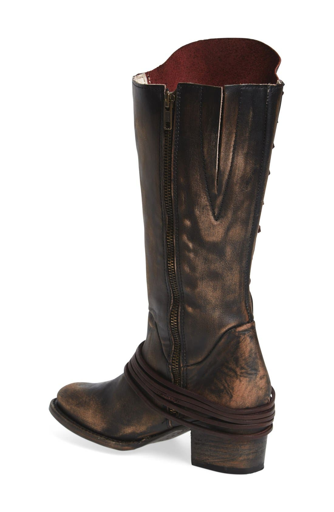 'Cash' Tall Boot,                             Alternate thumbnail 2, color,                             Brown Multi Leather