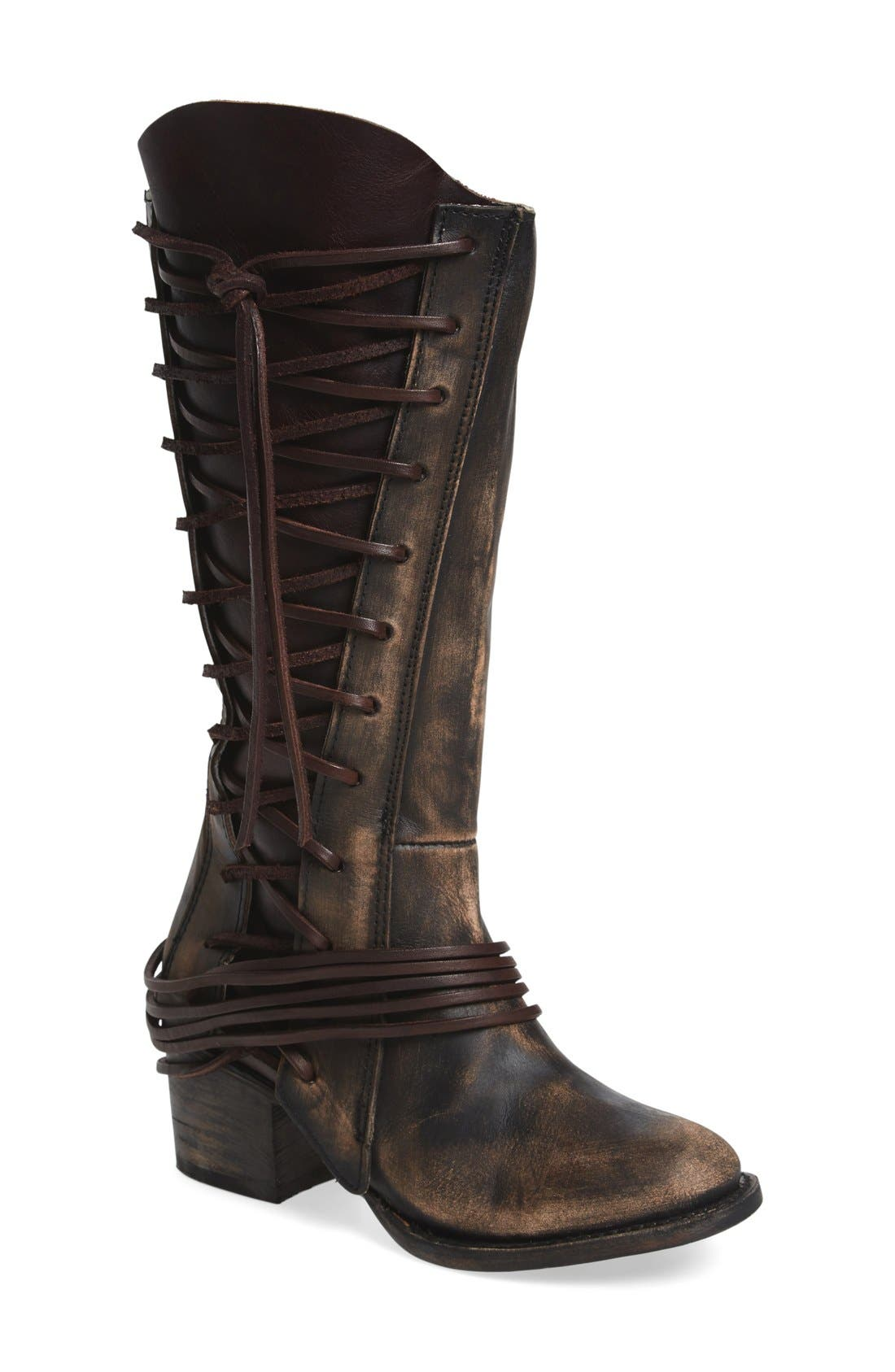 'Cash' Tall Boot,                             Main thumbnail 1, color,                             Brown Multi Leather