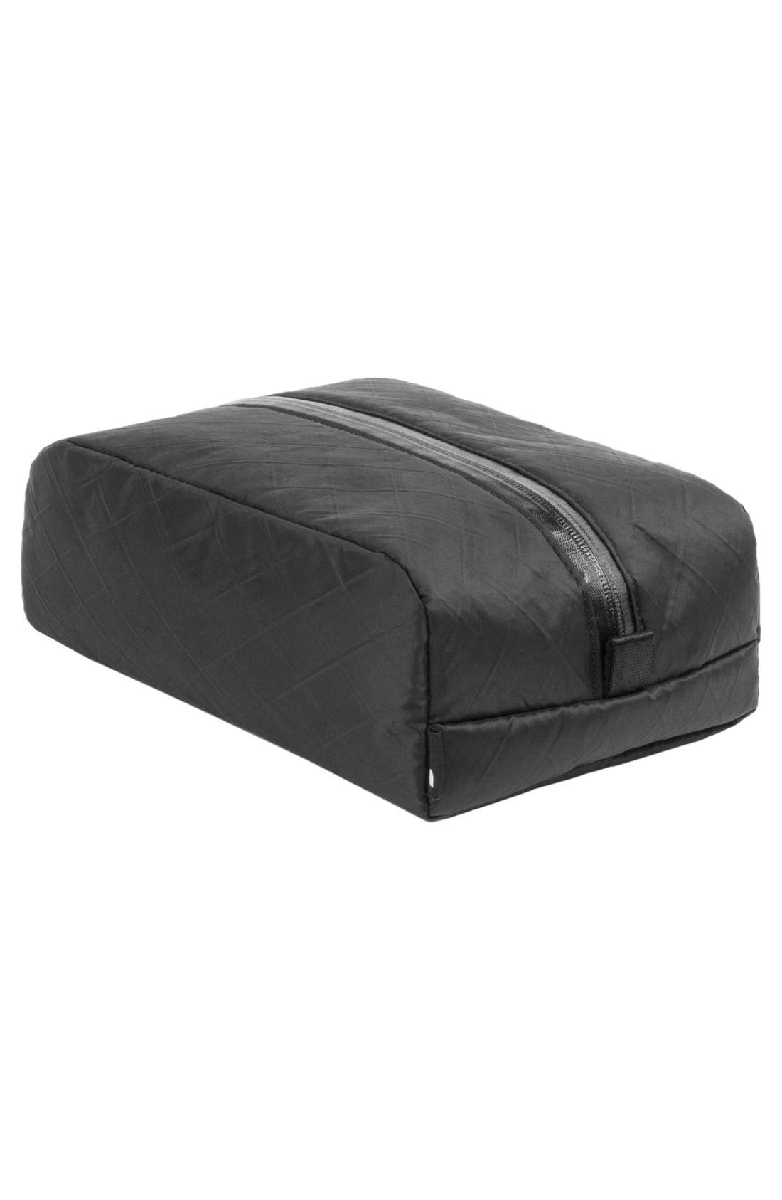 Diamond Wire Dopp Kit,                             Alternate thumbnail 5, color,                             Black