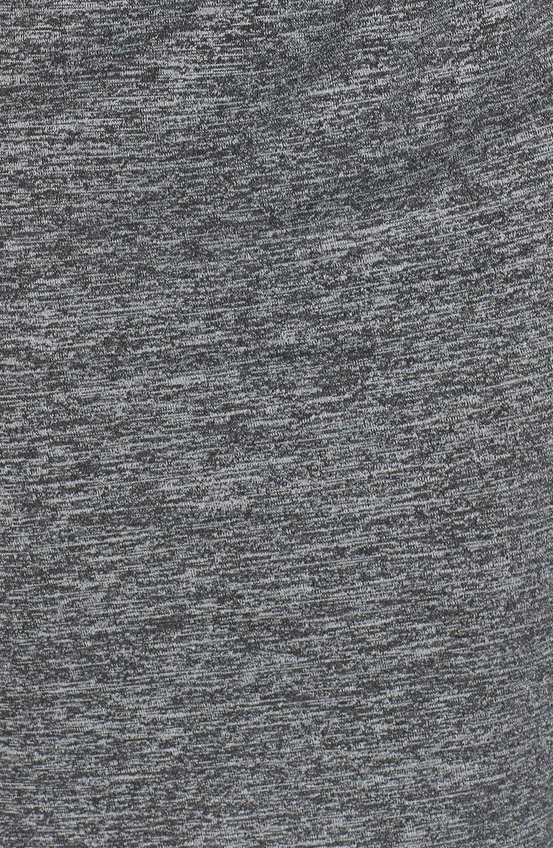 Knit Faux Wrap Dress,                             Alternate thumbnail 5, color,                             Heather/ Black