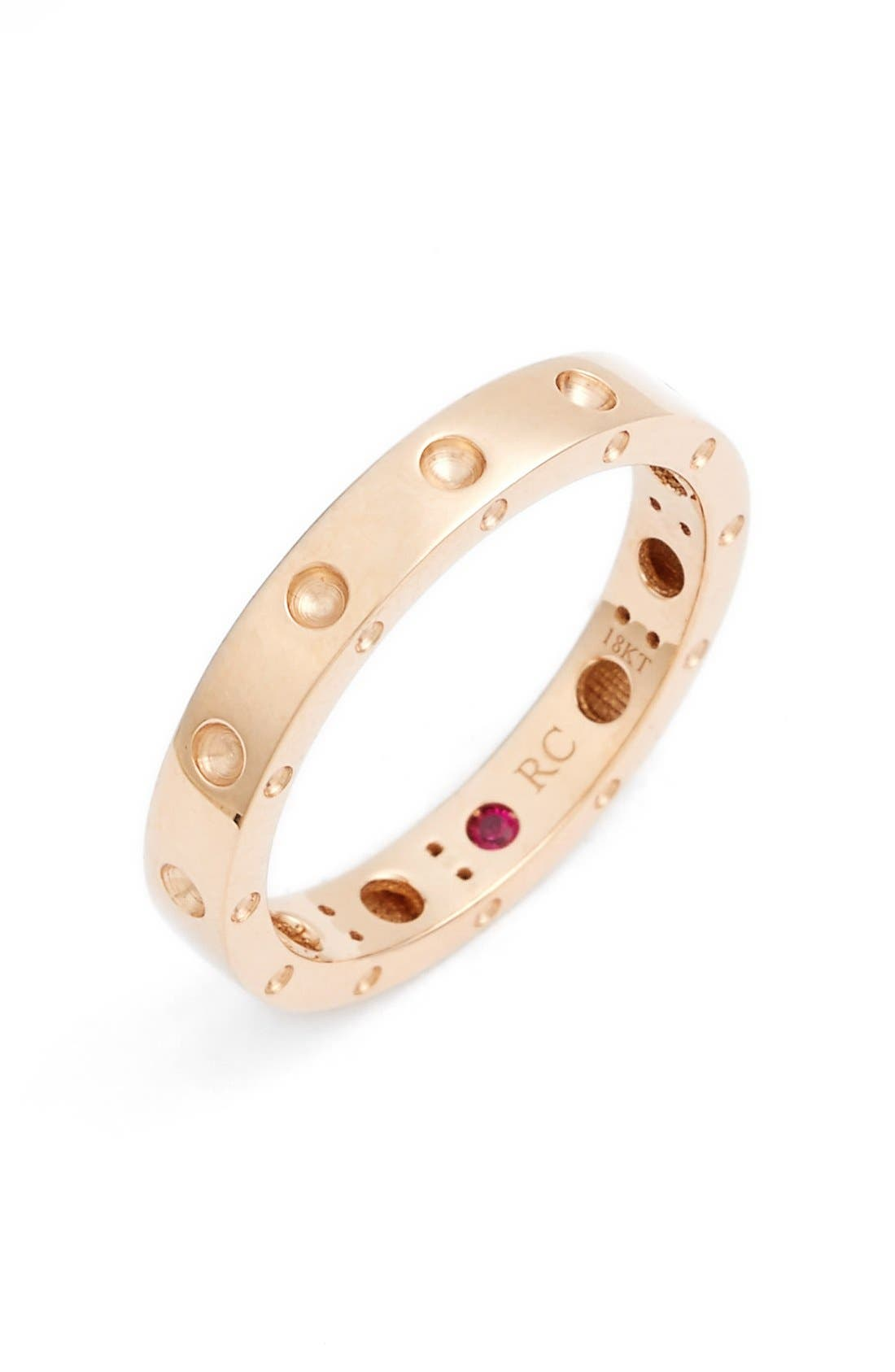 'Symphony - Pois Moi' Ruby Band Ring,                             Main thumbnail 1, color,                             Rose Gold