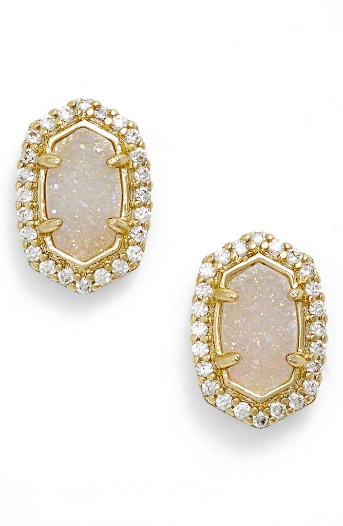 kendra earrings studs kendra cade drusy stud earrings nordstrom 8374