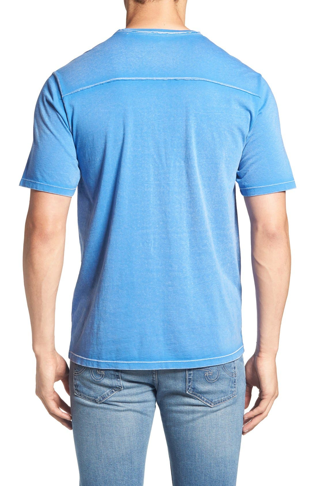 'Kahuna' V-Neck T-Shirt,                             Alternate thumbnail 2, color,                             Palace Blue