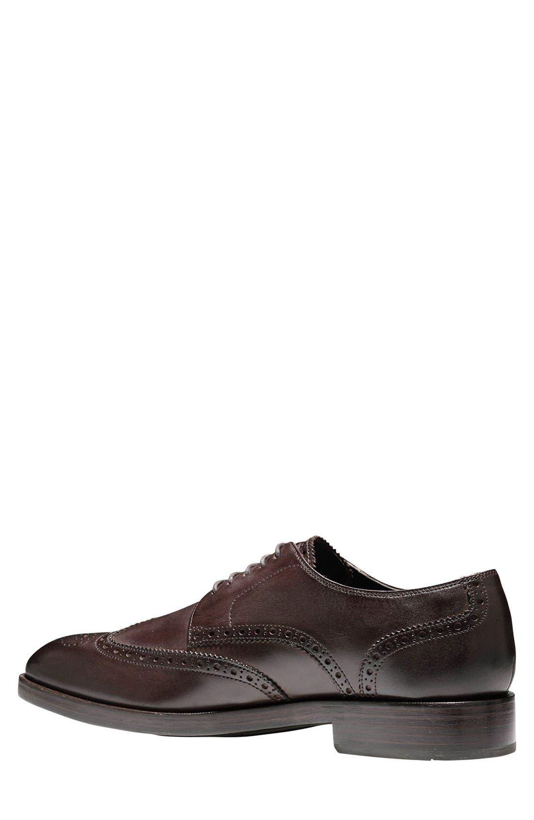 'Harrison Grand' Wingtip,                             Alternate thumbnail 3, color,                             Dark Brown Leather