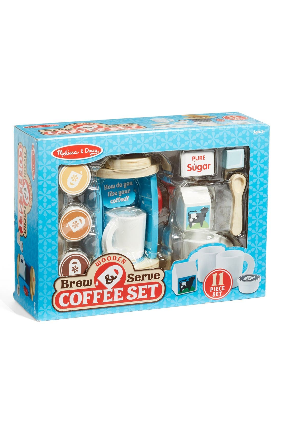 Wooden Brew & Serve Coffee Set,                         Main,                         color, Beige