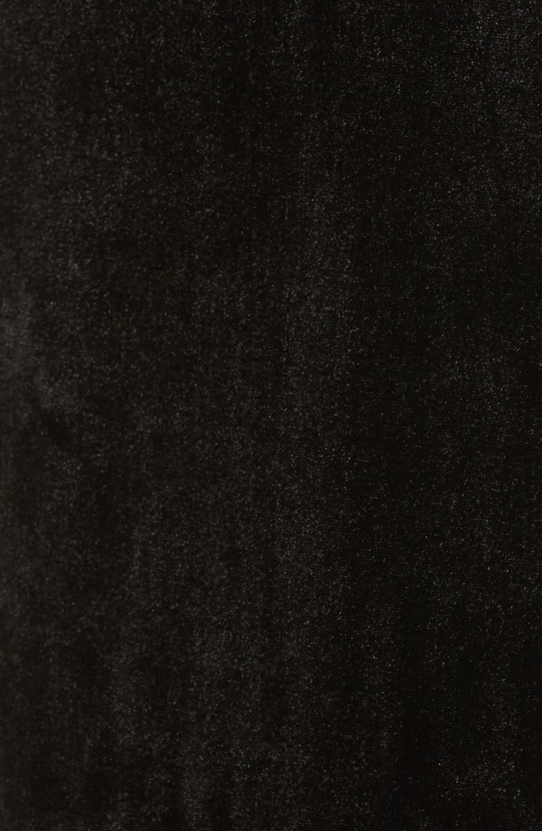 Alternate Image 5  - KENDALL + KYLIE Velvet Midi Skirt