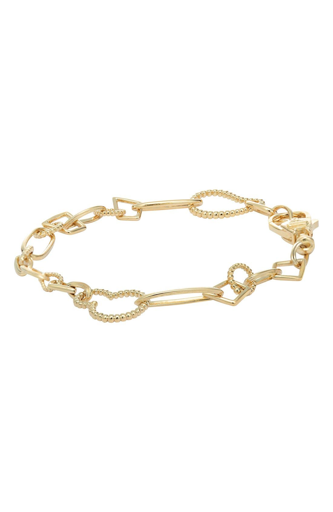 'Caviar Gold' Link Bracelet,                             Main thumbnail 1, color,                             Gold